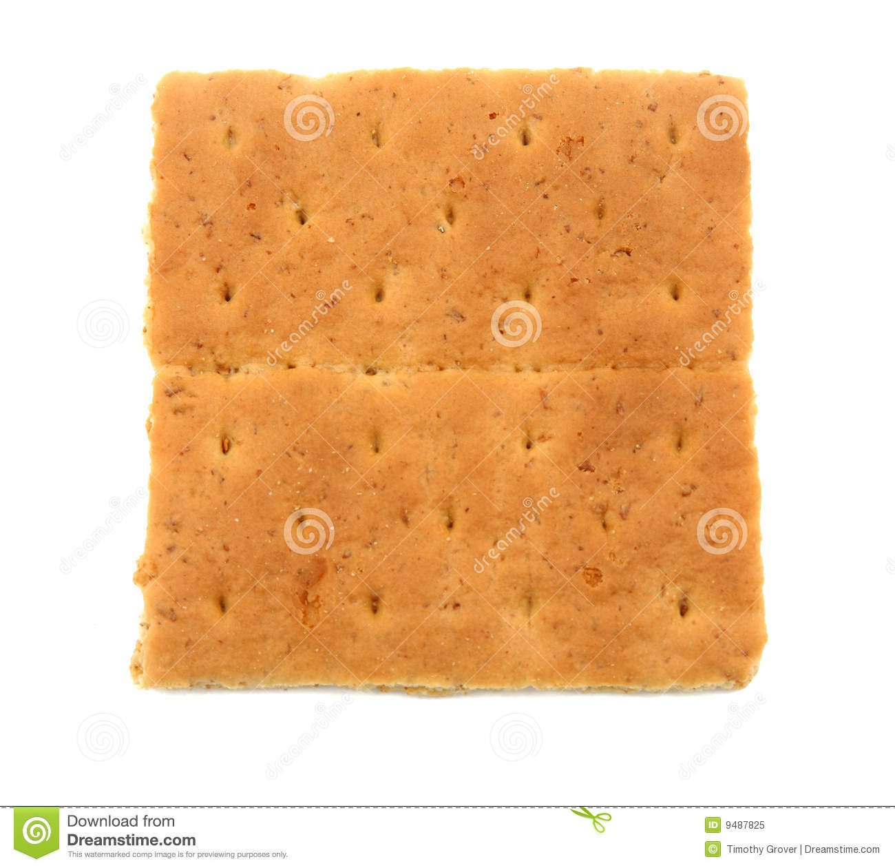 Graham Cracker Isolated Royalty Free Stock Photo - Image: 9487825