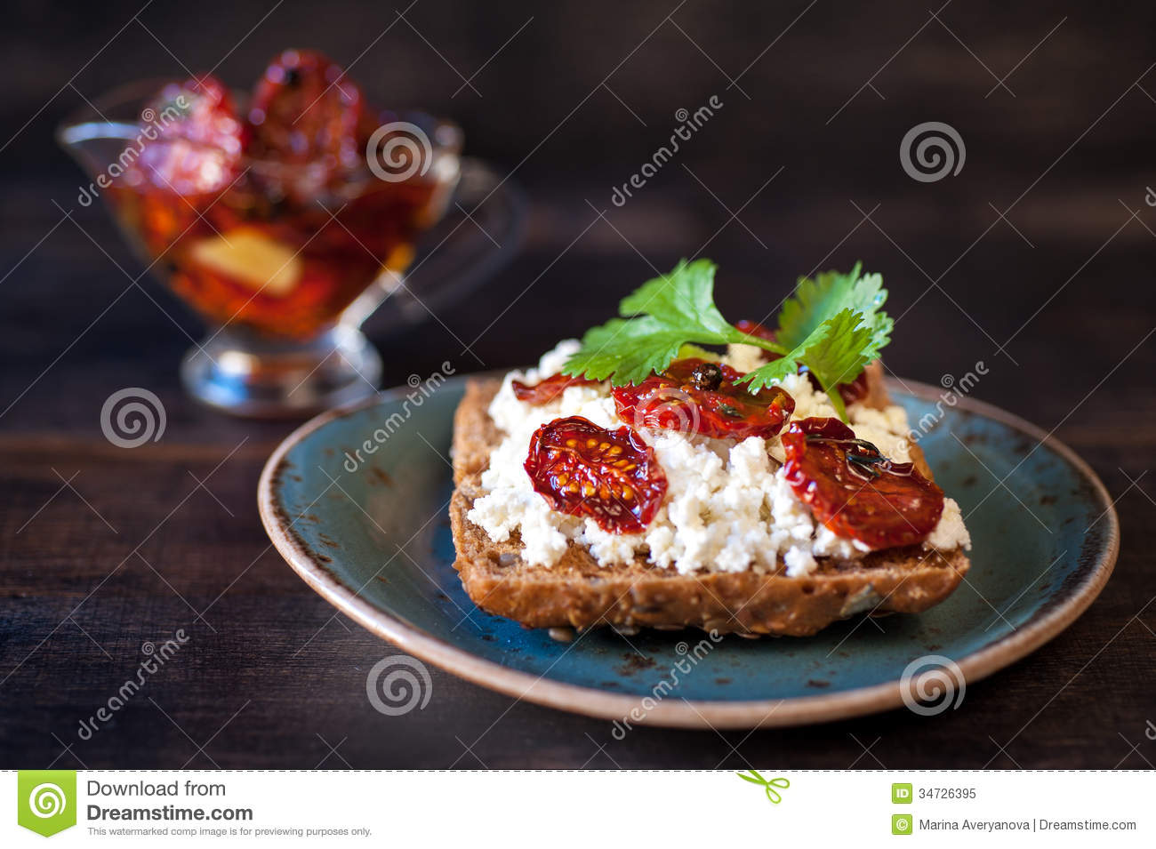Marvelous Grain Bread With Cottage Cheese Herbs And Sun Dried Download Free Architecture Designs Embacsunscenecom