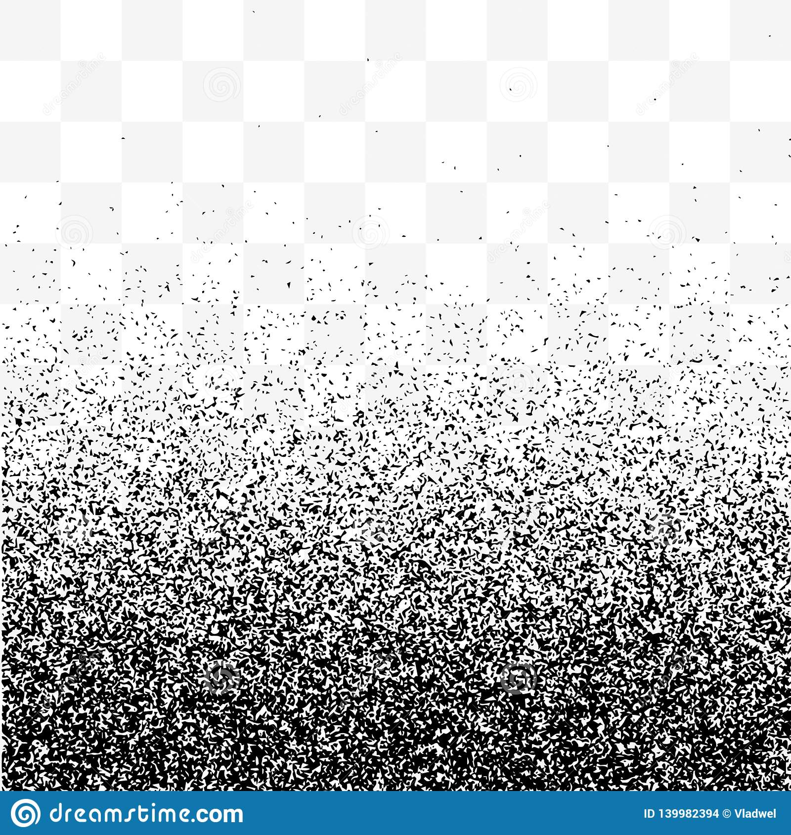 Grain Gradient Transparent Background, Black And White Old