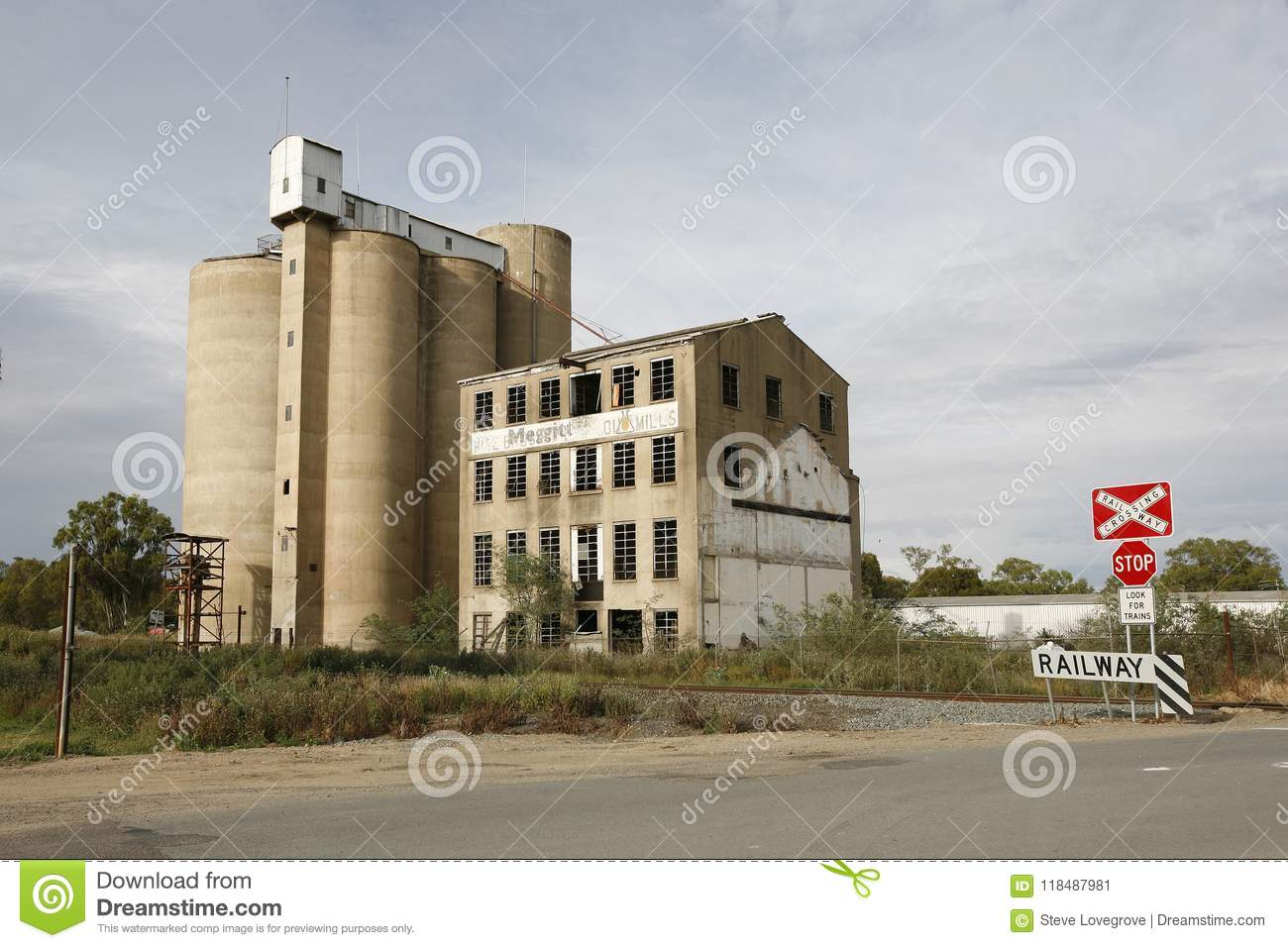 Grain Silos and flour mill editorial photo  Image of