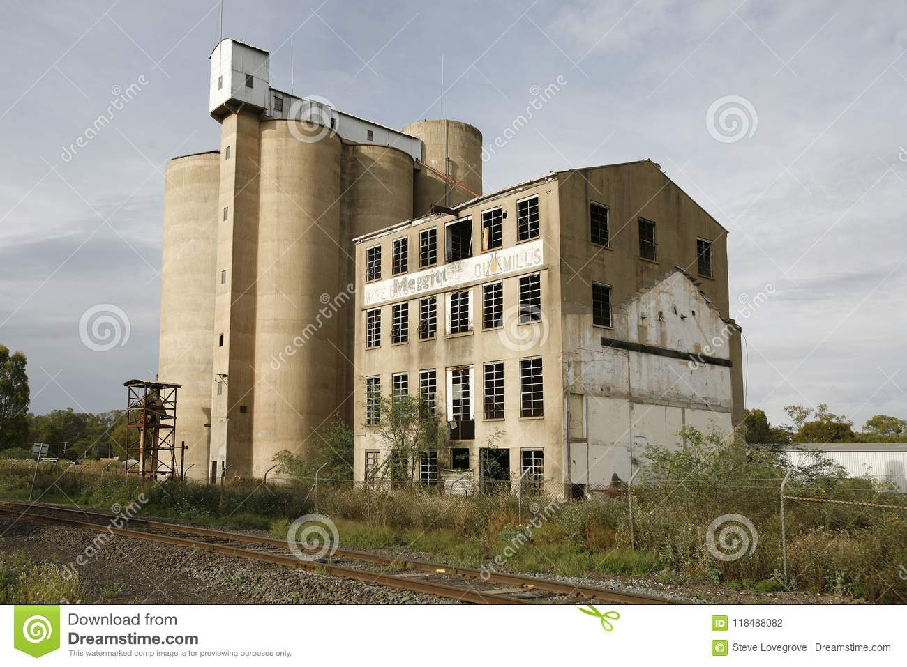 Grain Silos and flour mill editorial photography  Image of