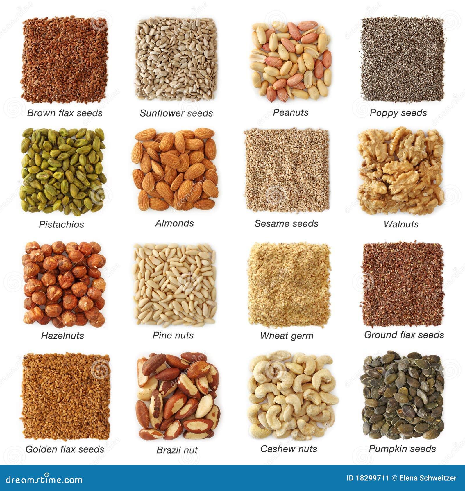 Graines oléagineuses et noix