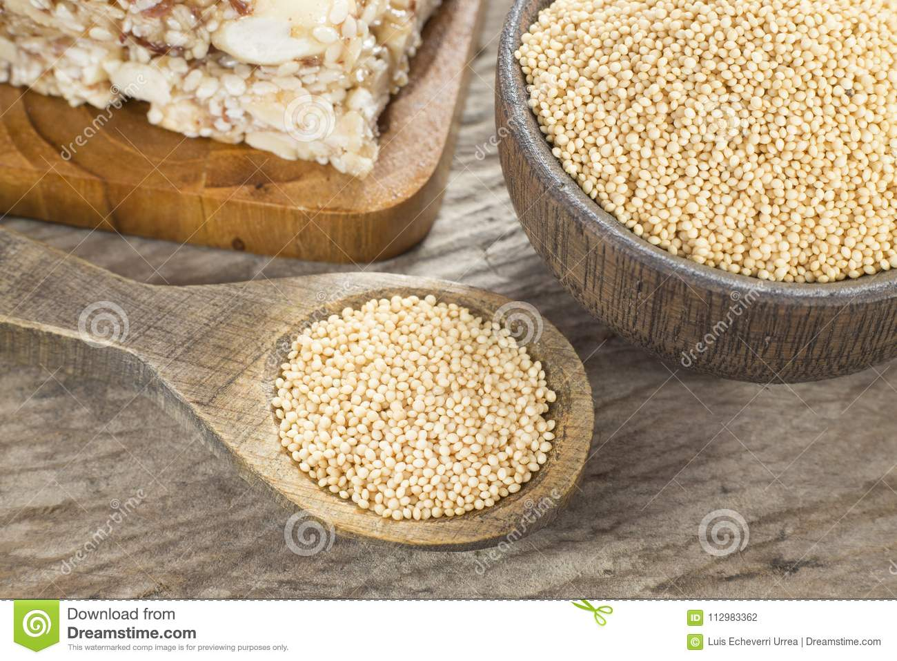 Grains and amaranth bar Amaranthus