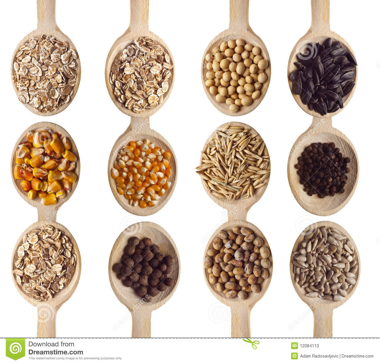 Grains And Cereal Food Stock Image. Image Of Soya, Spoon