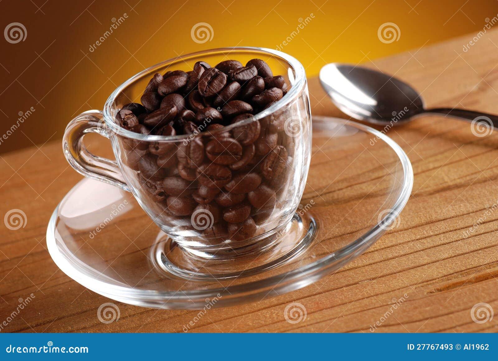 Grains de café dans la cuvette