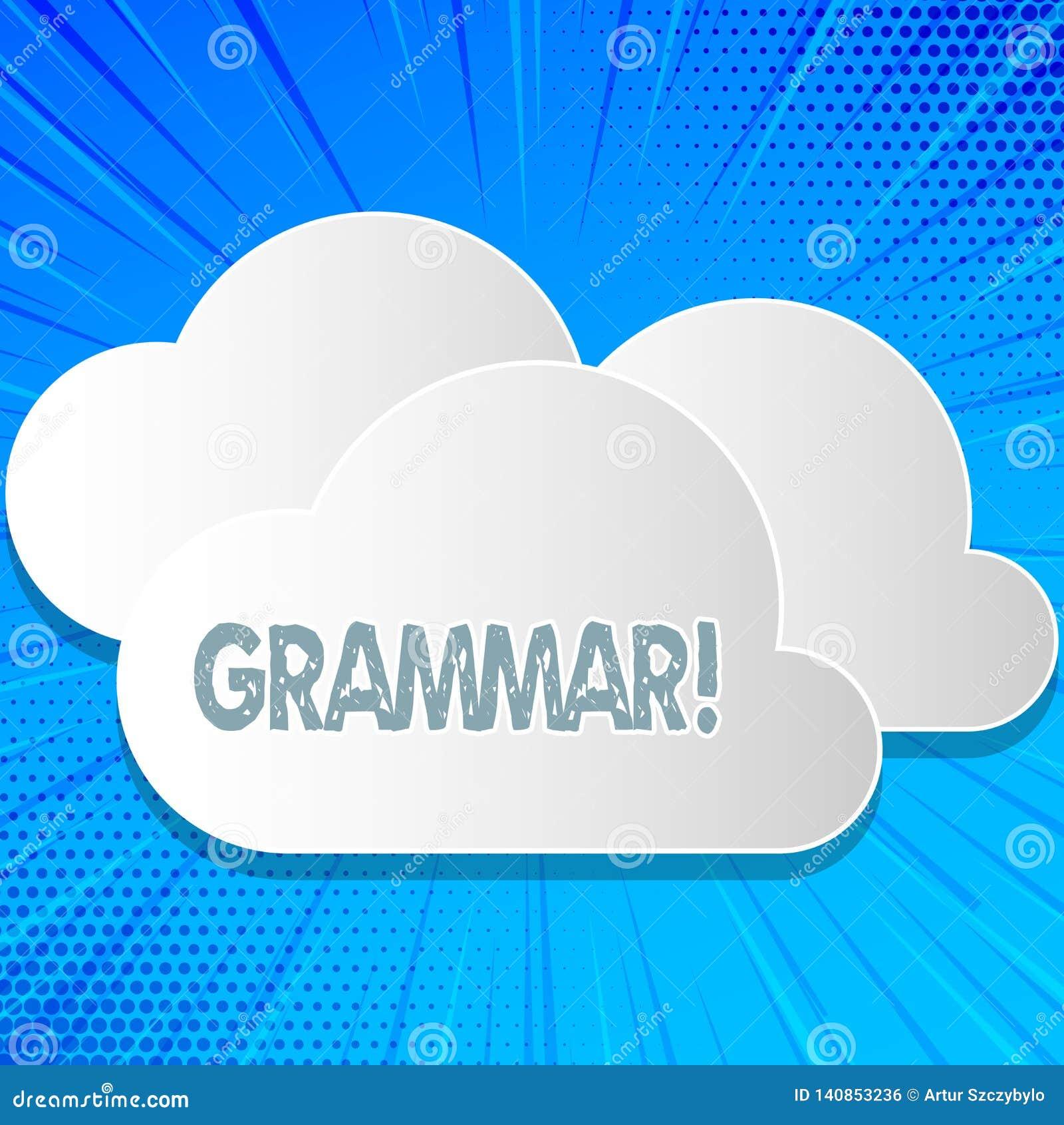 Gramática del texto de la escritura de la palabra Concepto del negocio para el sistema y estructura de las reglas de una escritur