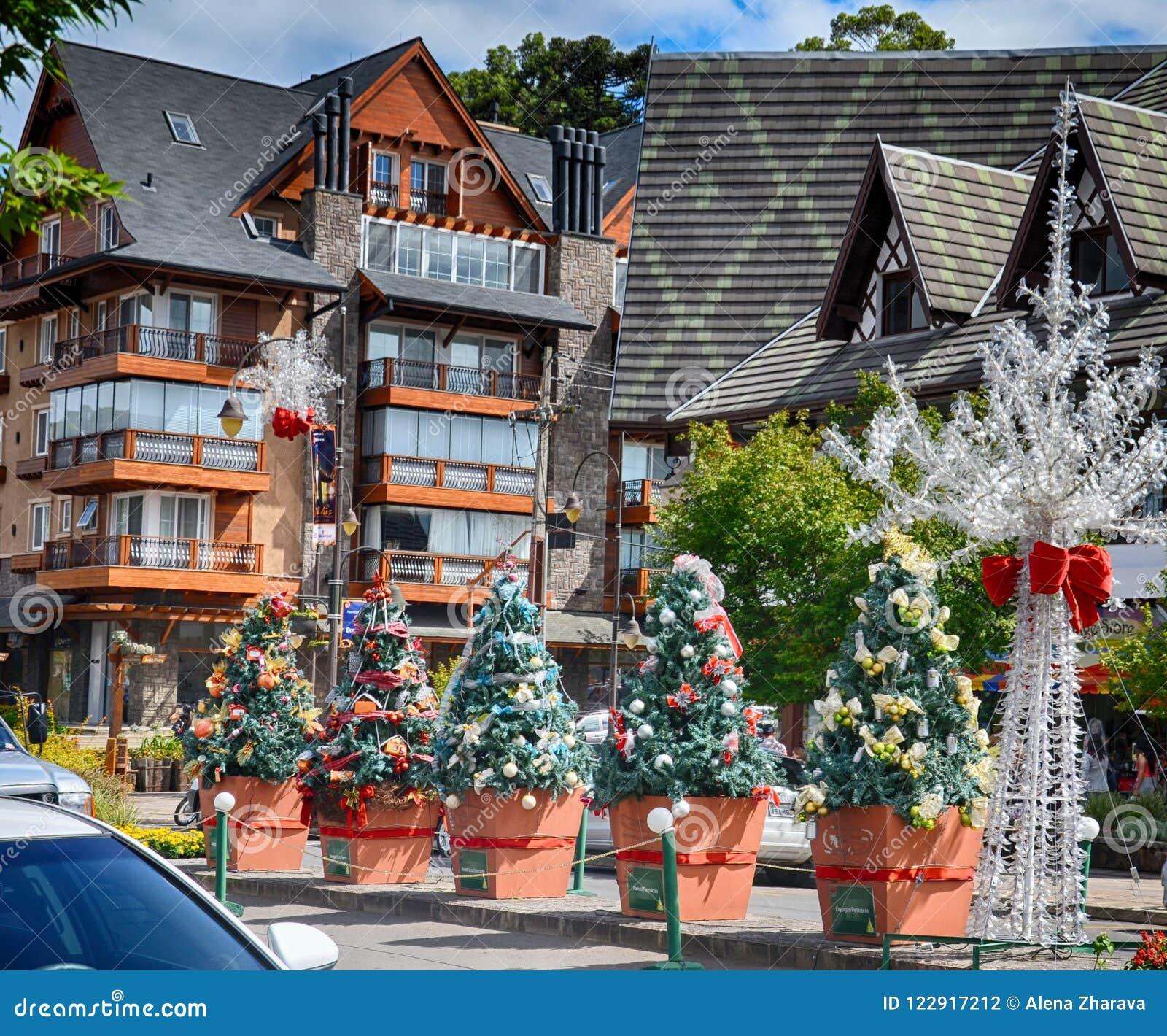 Fotos De Navidad En Brasil.Gramado Region Rio Grande Del Sur El Brasil Decoraciones