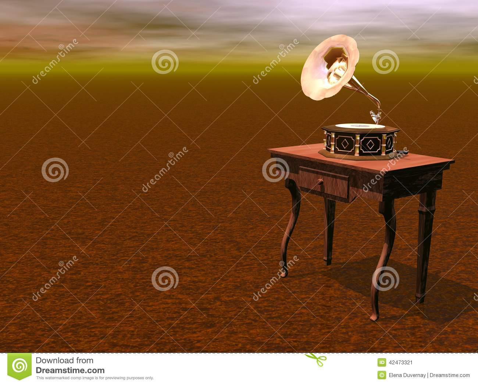 Grammophon - 3D übertragen