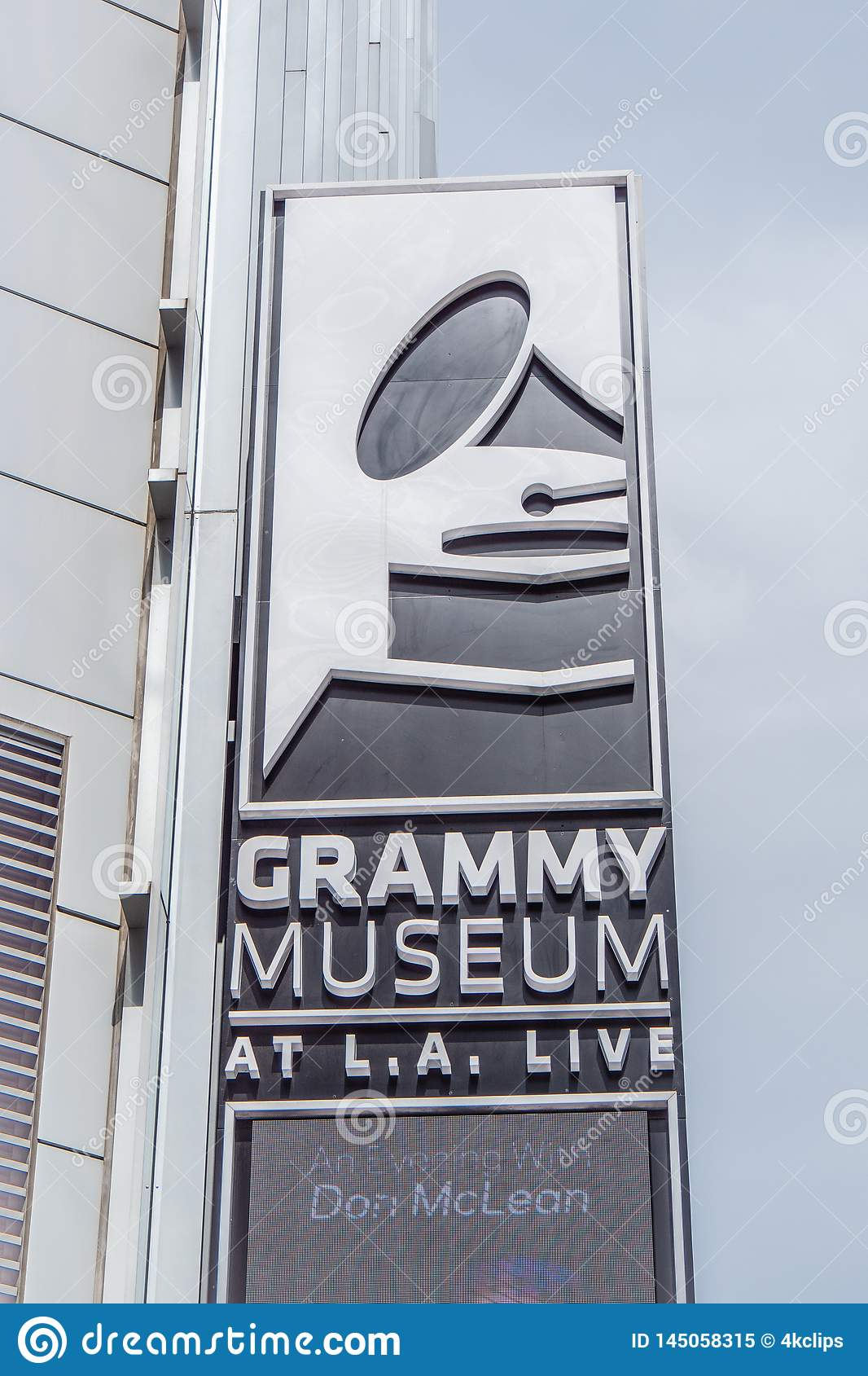 Grammy Museum in Los Angeles Downtown - CALIFORNIA, USA - MARCH 18, 2019