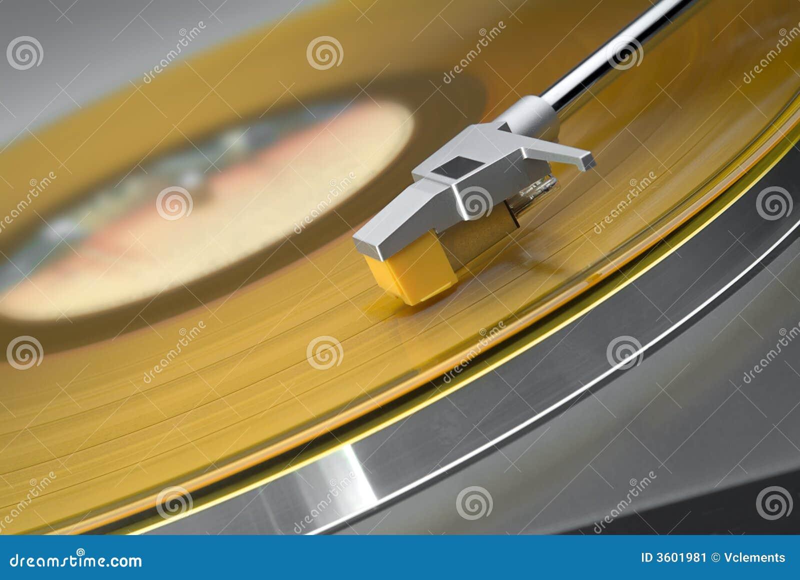Gramofon wpisu, żółty