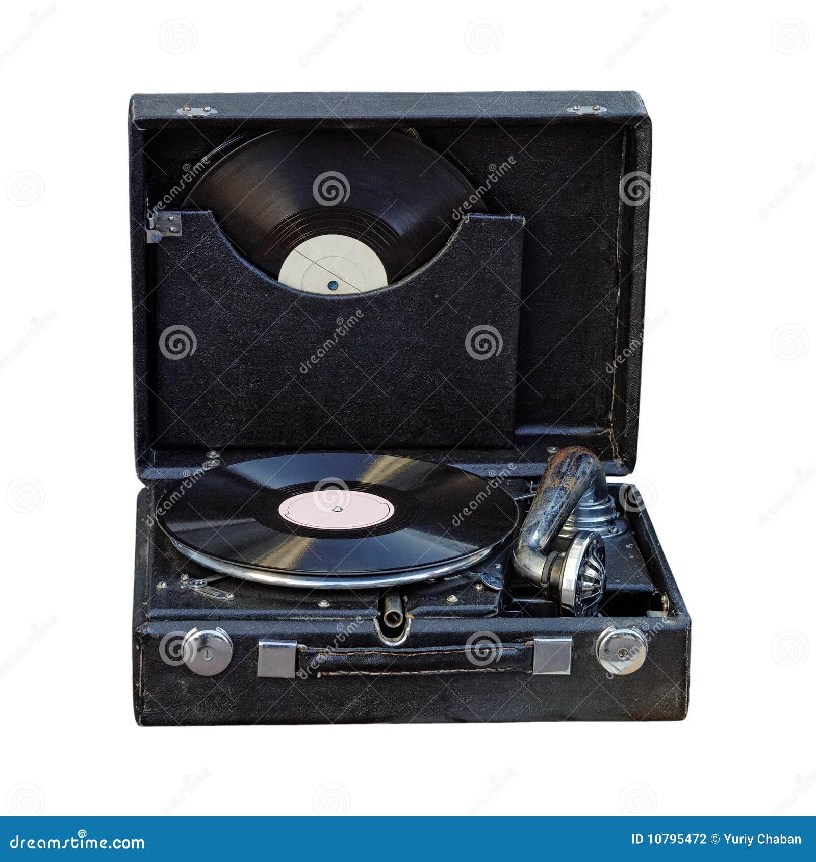 Gramofonowy przenośny rocznik