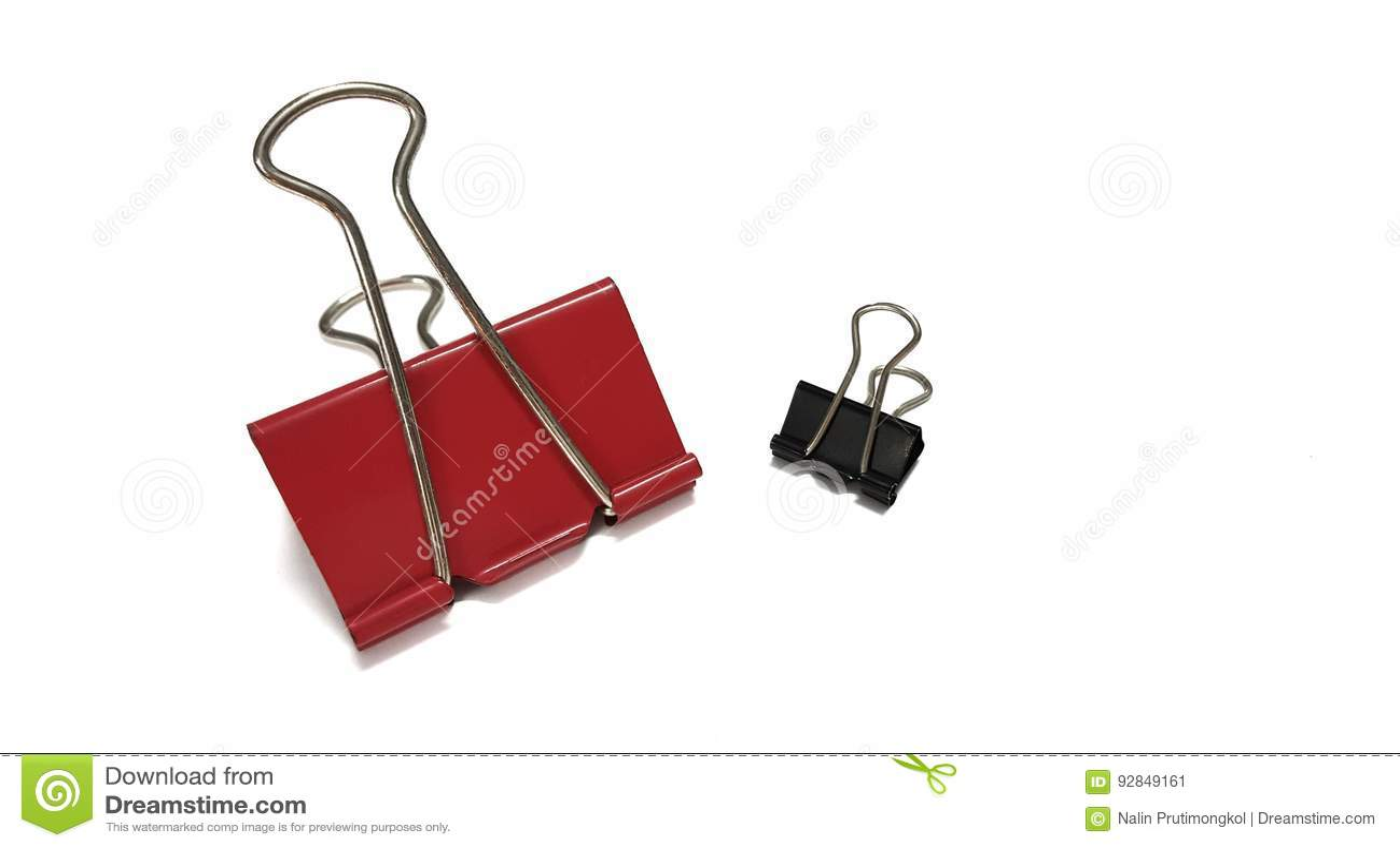 Grampo de papel vermelho