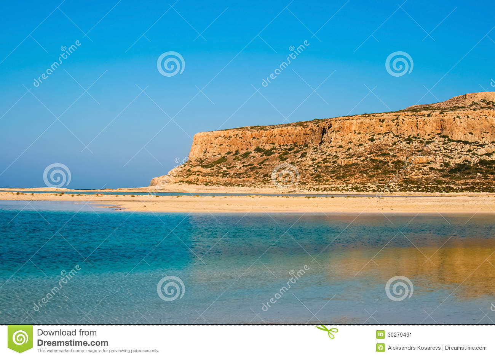 Gramvousa海岛和Balos盐水湖克利特的