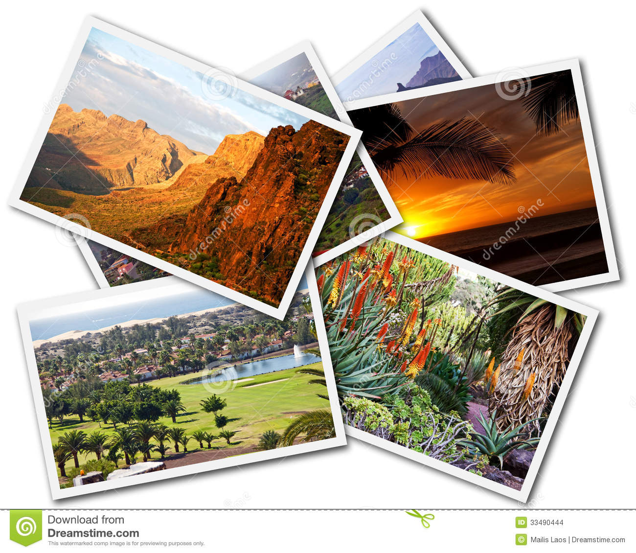 Download Gran Canaria Collage stock photo. Image of postcard, pictures - 33490444