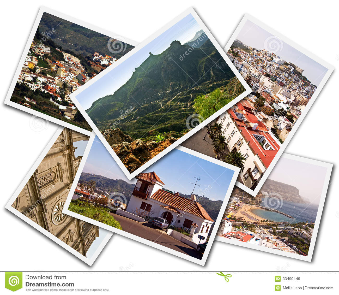 Download Gran Canaria Collage stock image. Image of scenic, memento - 33490449