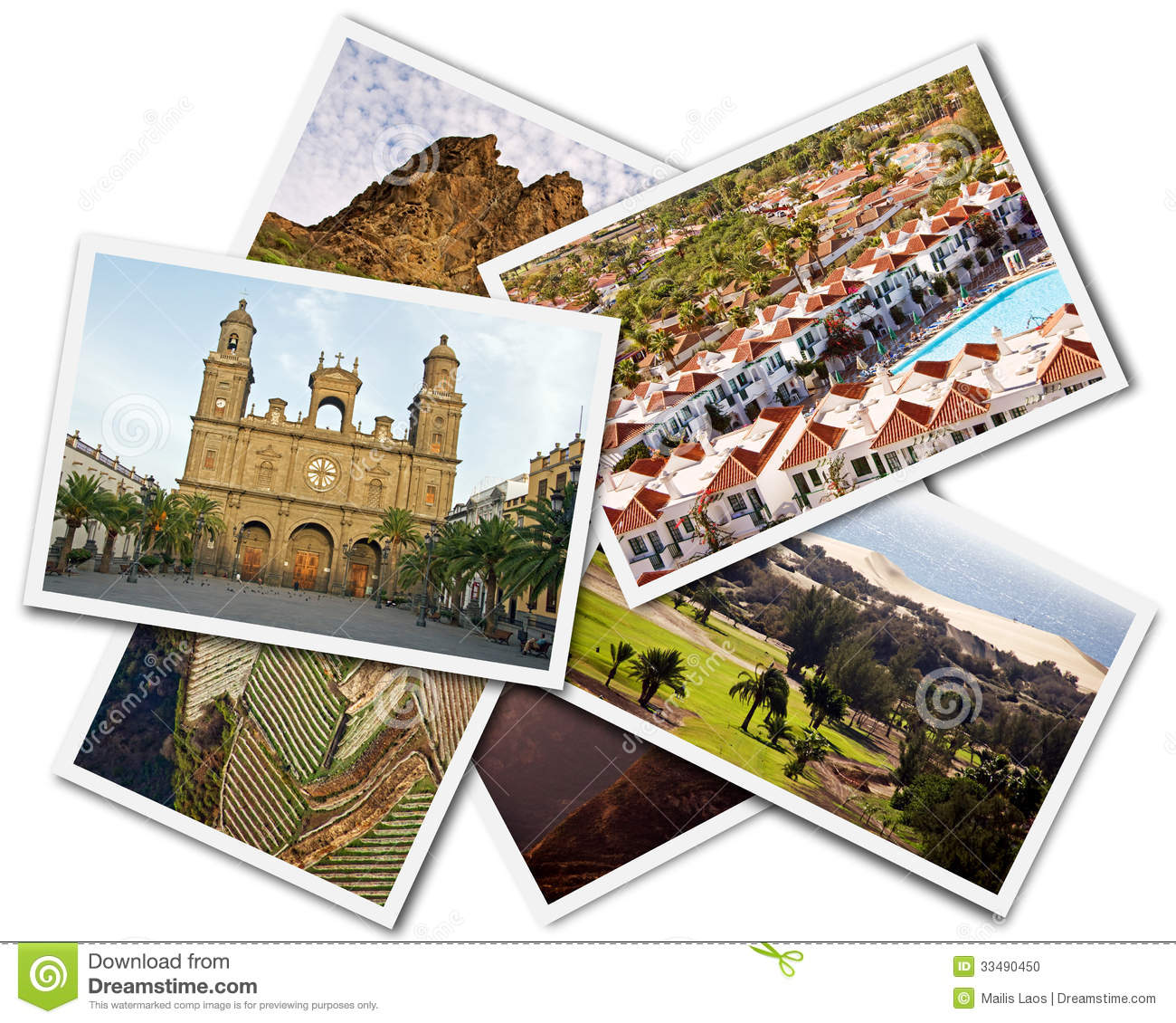 Download Gran Canaria Collage stock photo. Image of details, palm - 33490450