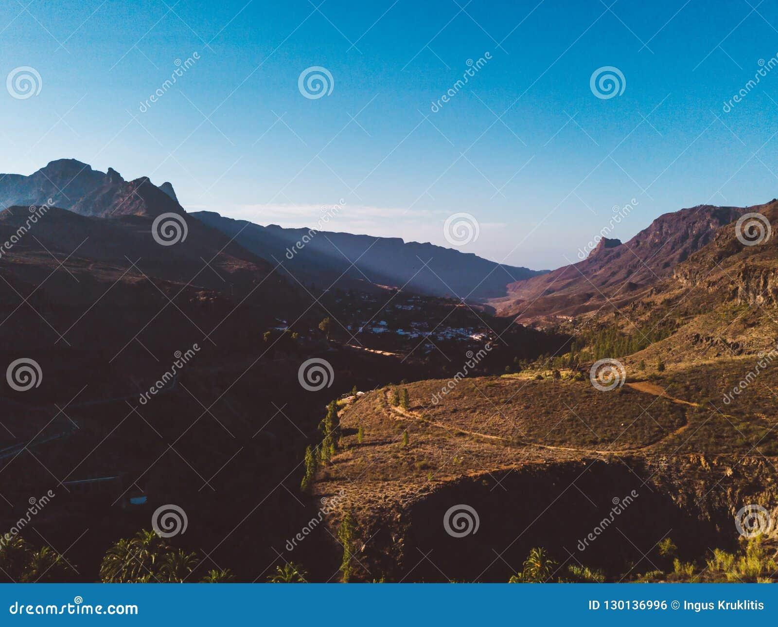 Gran Canaria natursikt med klippor