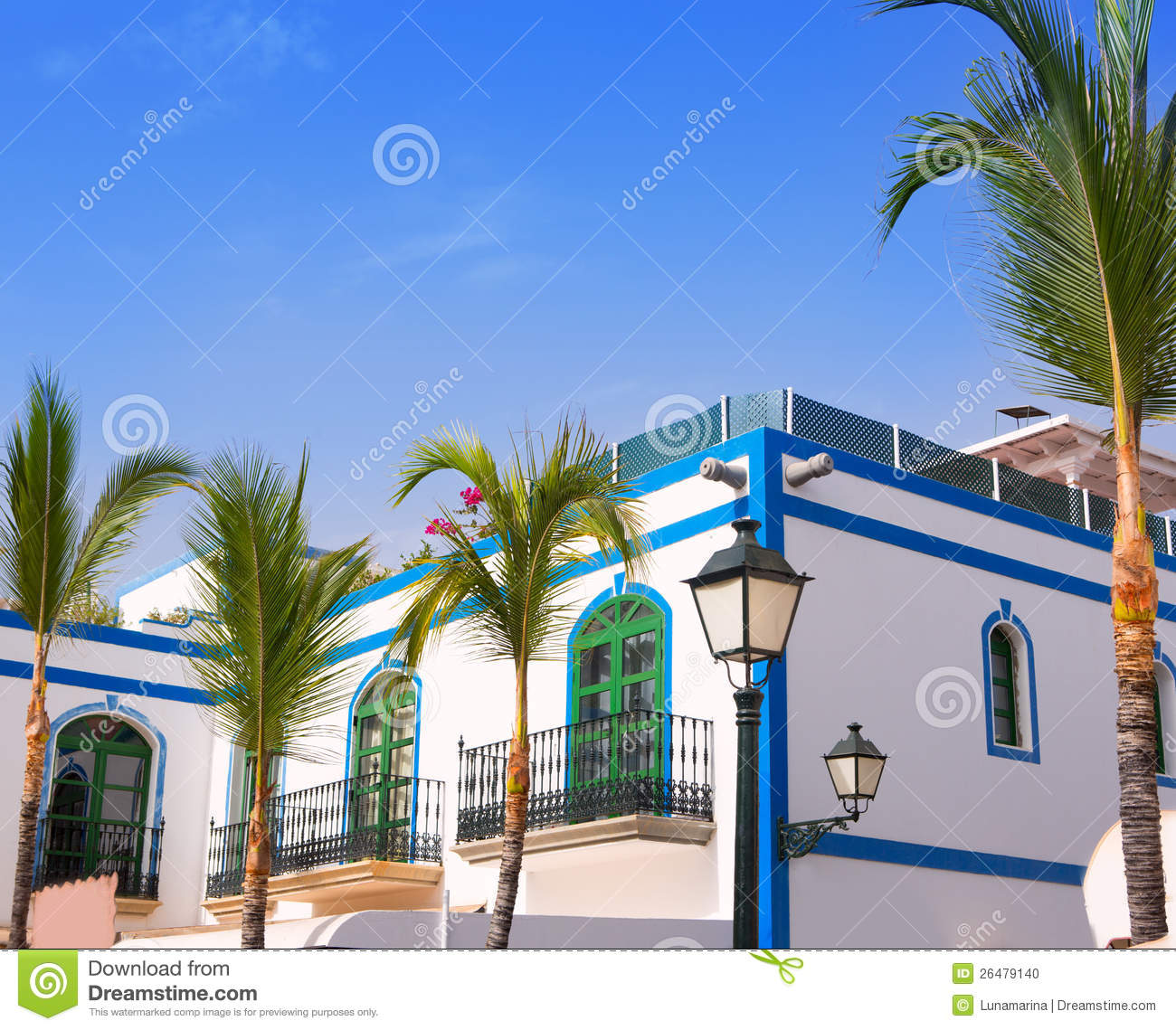 Gran canaria puerto de mogan white houses royalty free - Houses in gran canaria ...