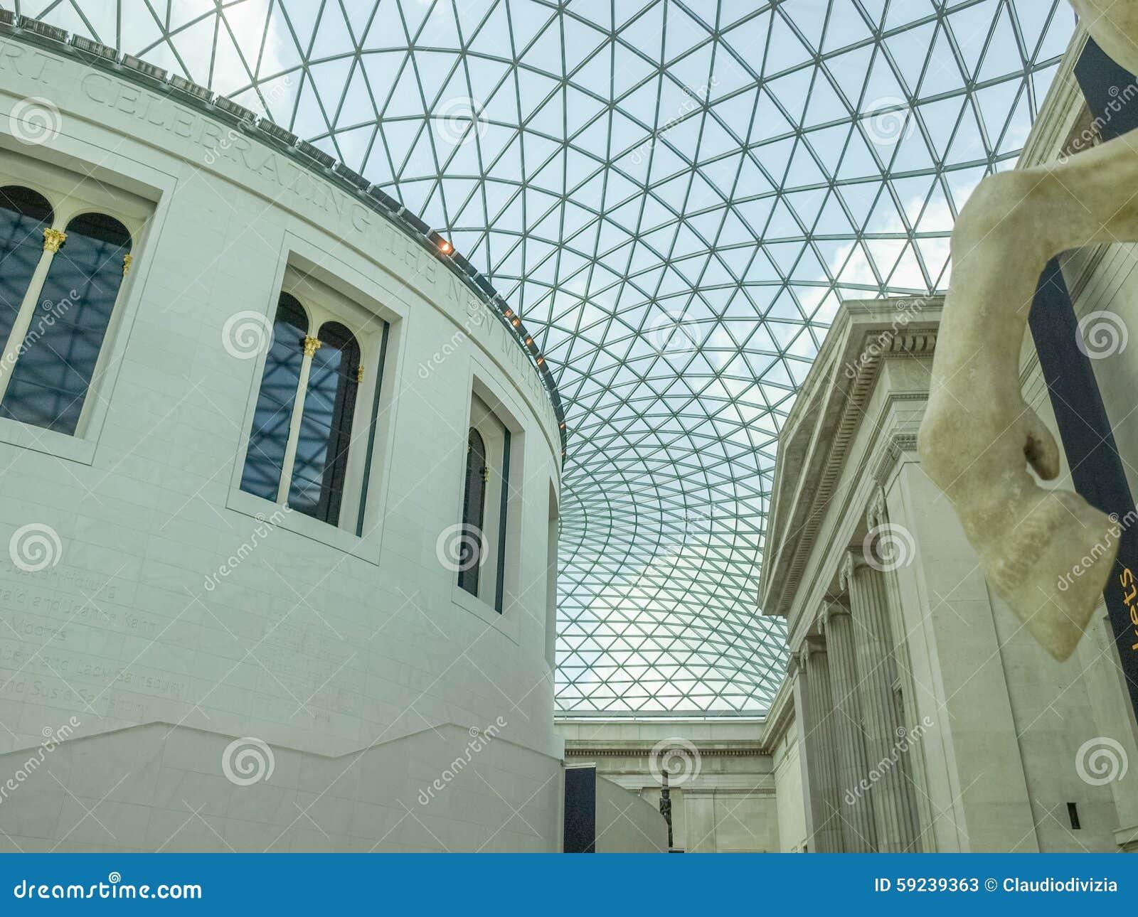 Download Gran Corte De British Museum En Londres Foto de archivo editorial - Imagen de británico, señor: 59239363
