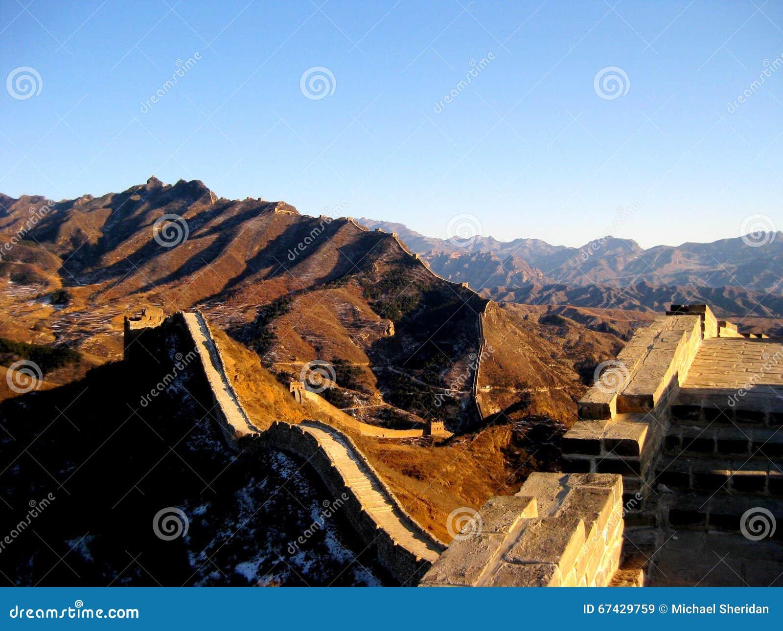Gran Muralla de China en invierno