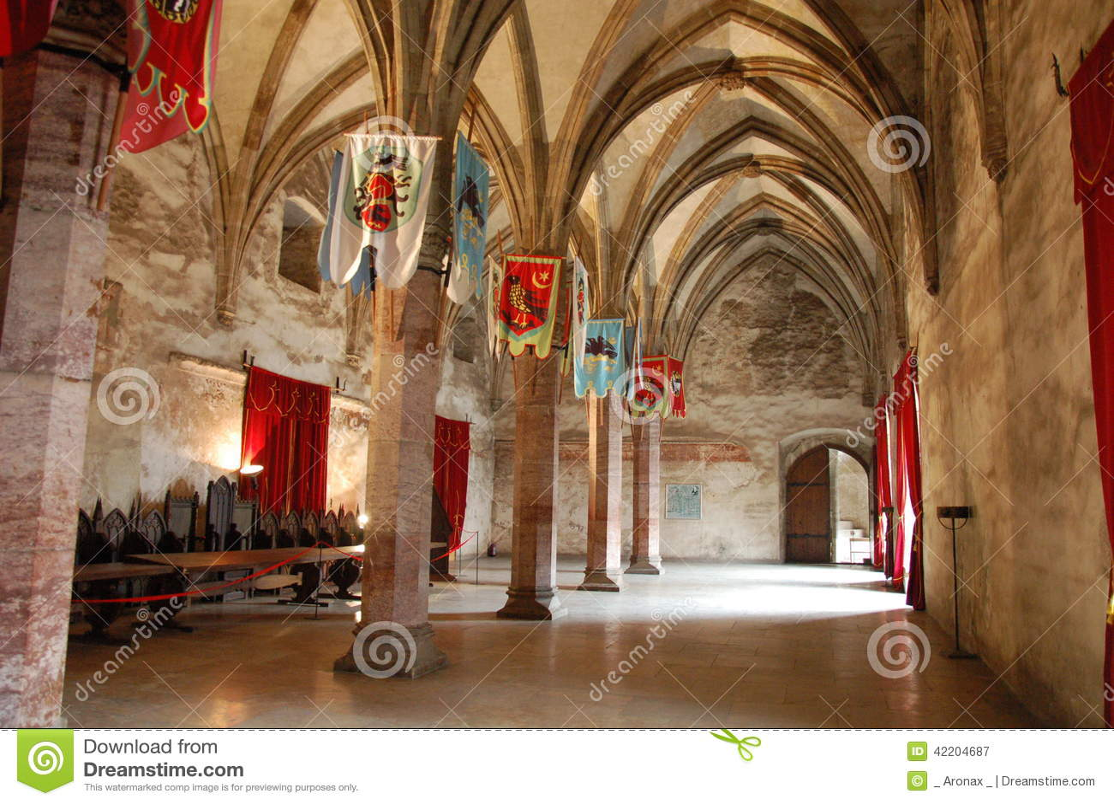 Gran Pasillo medieval, castillo de Huniards