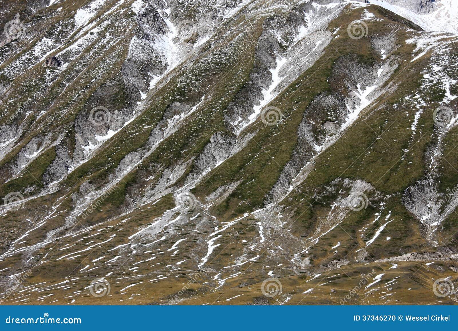 Gran Sasso berg i Apenninesen av Italien