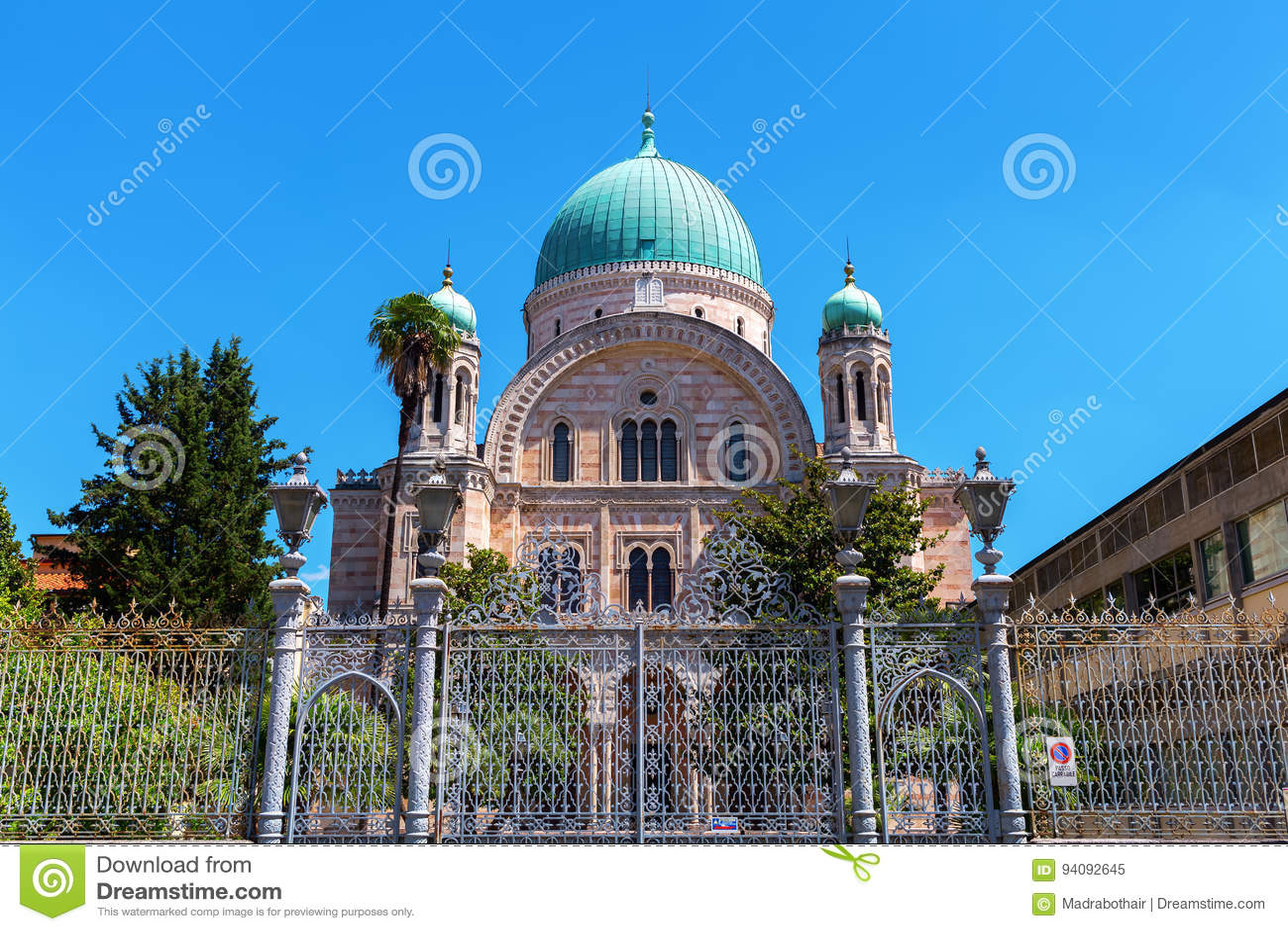 Gran sinagoga en Florencia, Italia