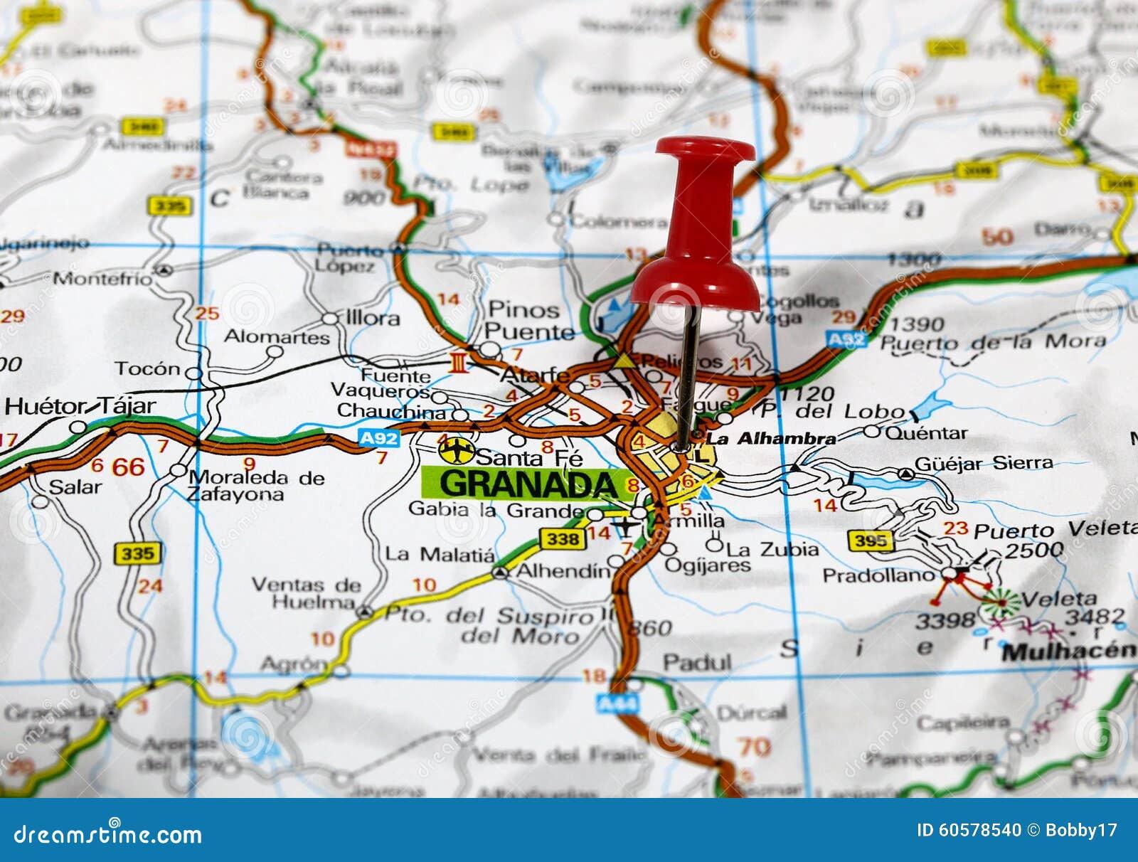 Granada Karte.Granada Stockfoto Bild Von Karte Barcelona Kugel Granada 60578540