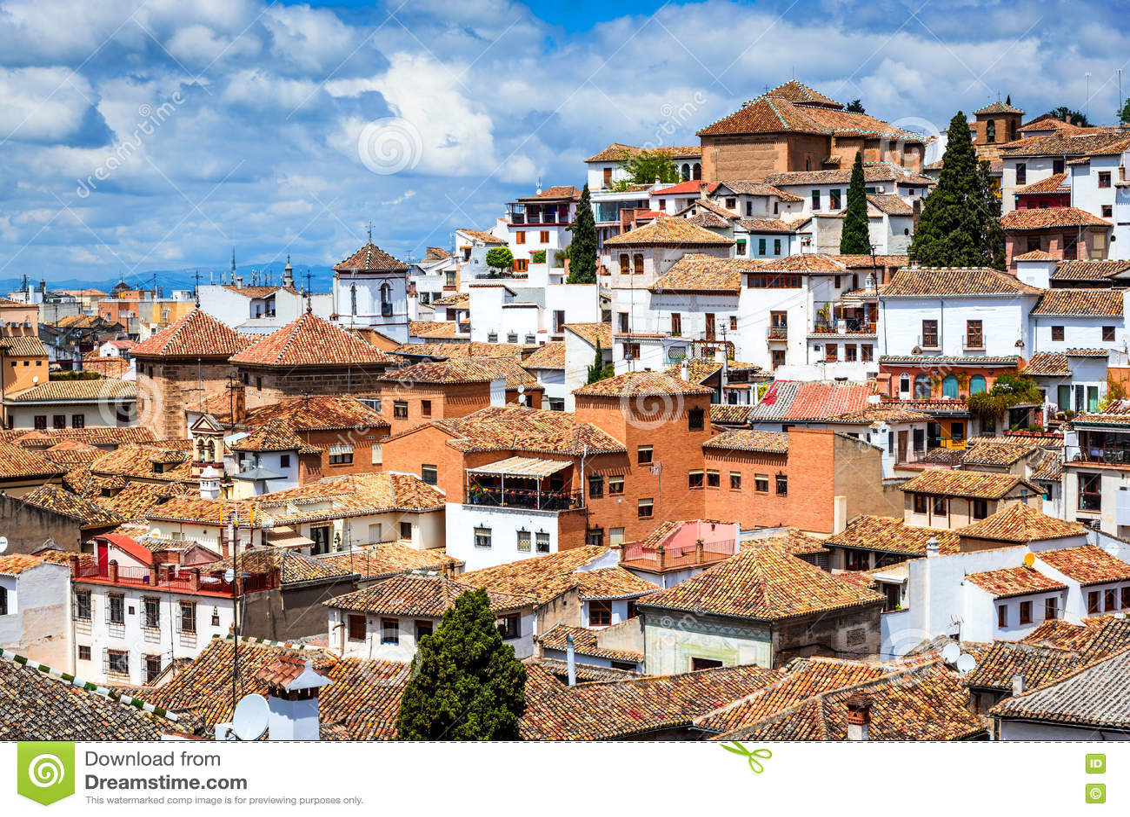 Granada - Albaicin Moorish Quarter, Andalusia In Spain Stock Image