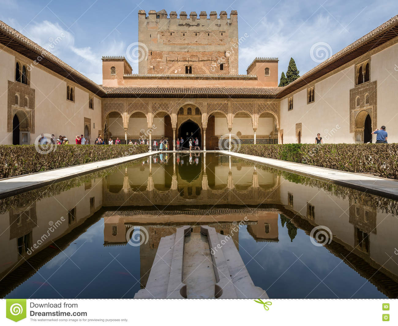 GRANADA, ANDALUCIA/SPAIN - MAY 7 : Part of the Alhambra Palace