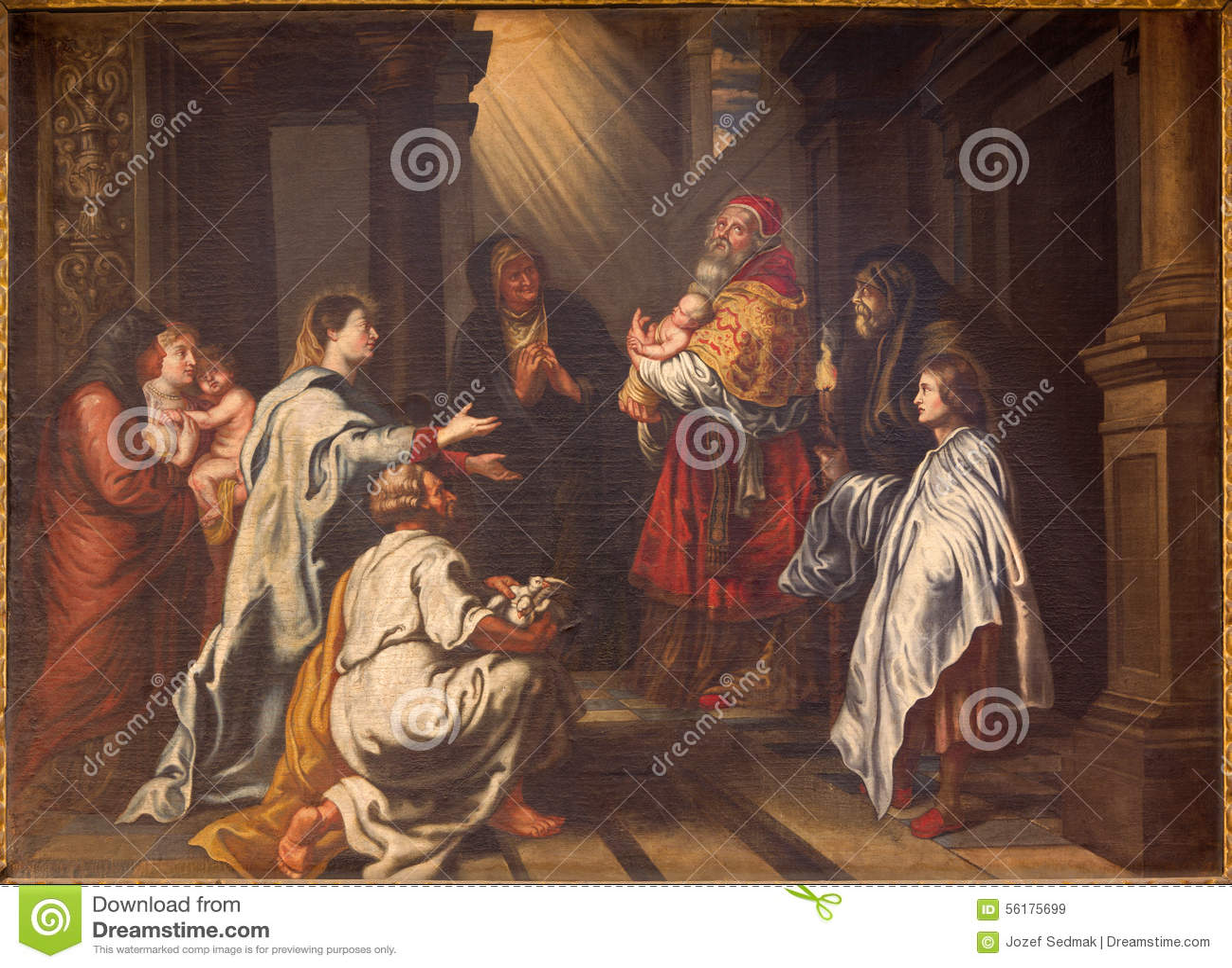 Granada - la presentación de Cristo en la pintura del templo por la batalla Juan Sanchez Cotan en la iglesia Monasterio de la Car