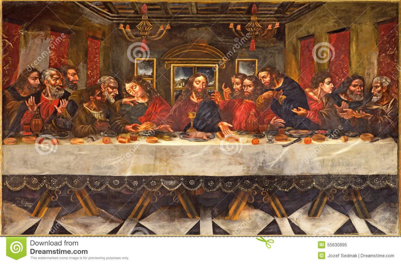 Granada - The Last supper painting by Juan de Sevilla Romero (1643 - 1695)