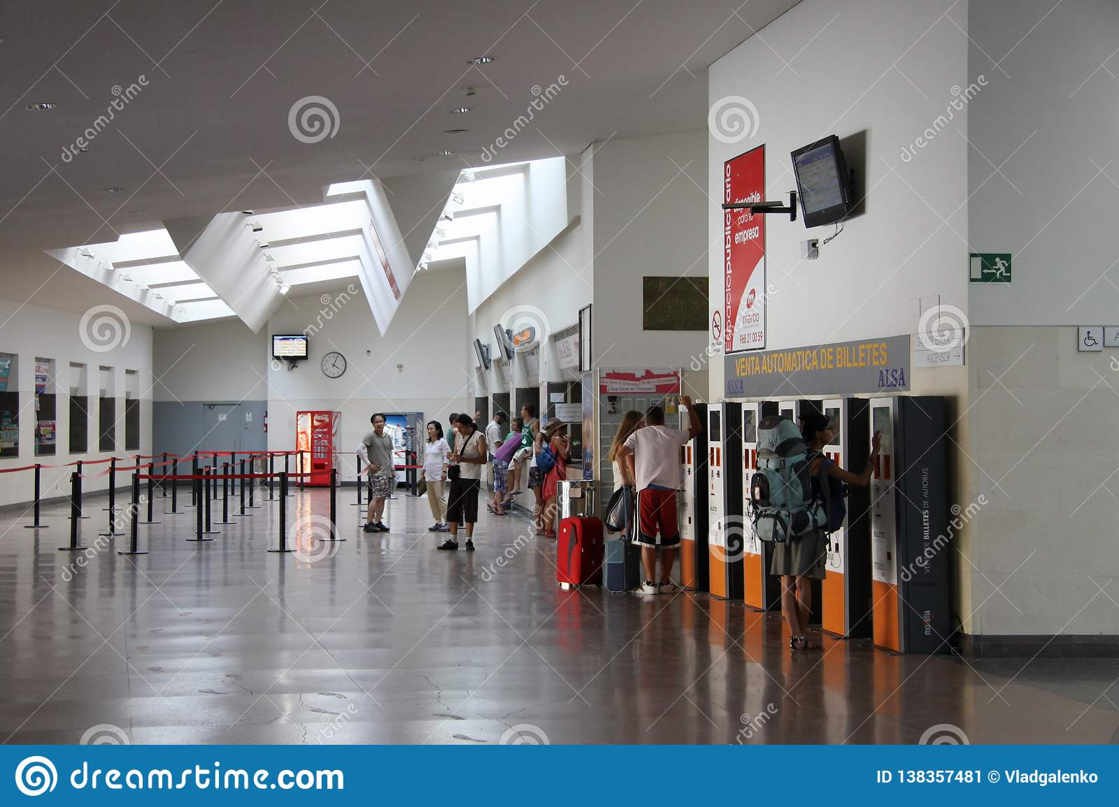 Passengers At The Bus Station In Granada  Editorial Photo - Image of