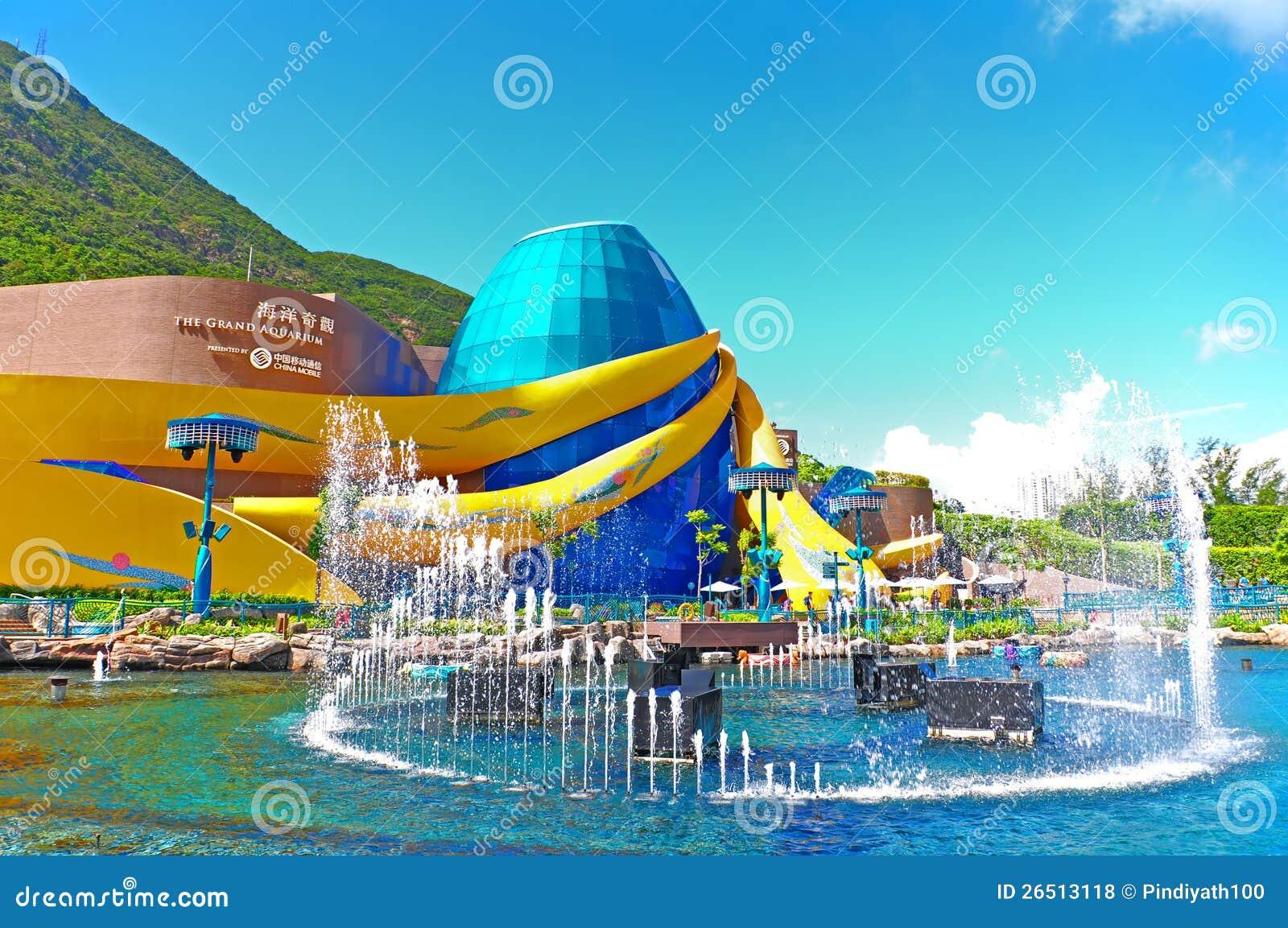 The Grand Aquarium Of Ocean Park Editorial Stock Photo