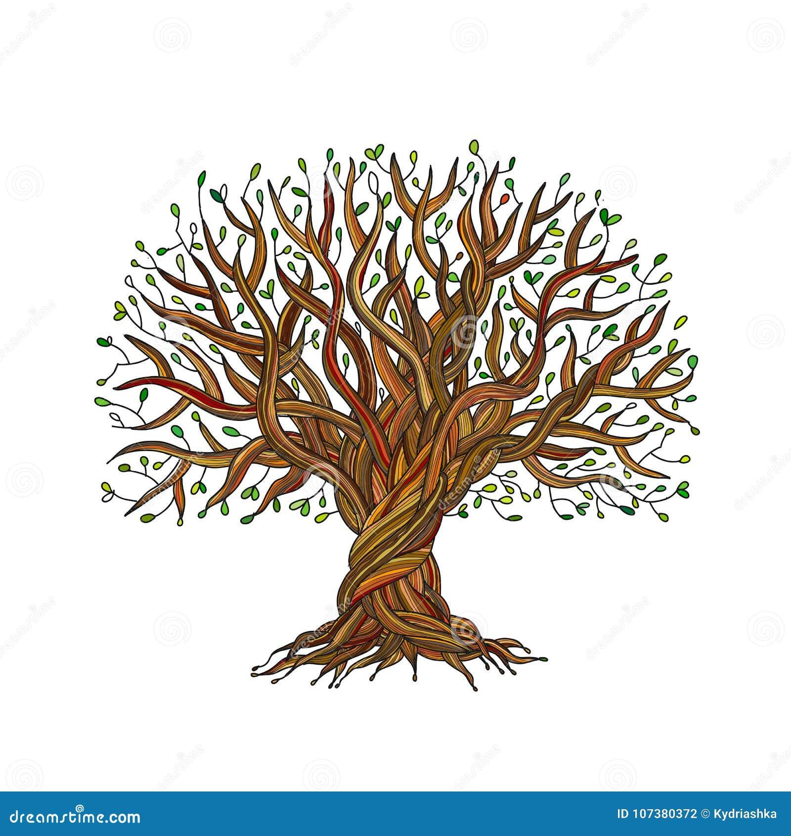 grand arbre avec des racines pour votre conception illustration de vecteur illustration du. Black Bedroom Furniture Sets. Home Design Ideas
