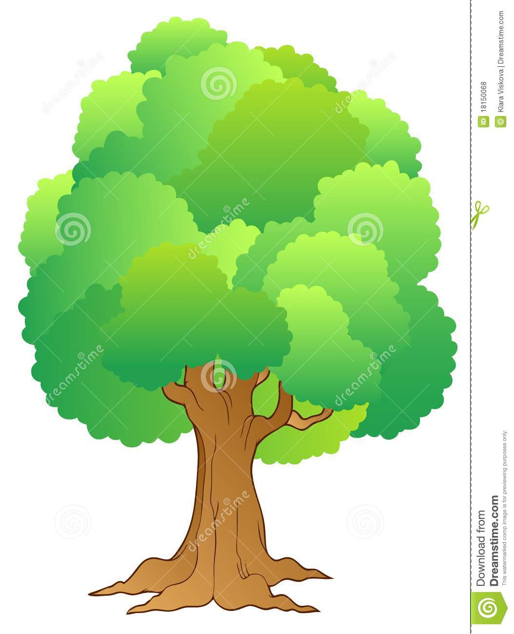 grand arbre avec la cime d 39 arbre verte illustration de vecteur illustration du for t. Black Bedroom Furniture Sets. Home Design Ideas