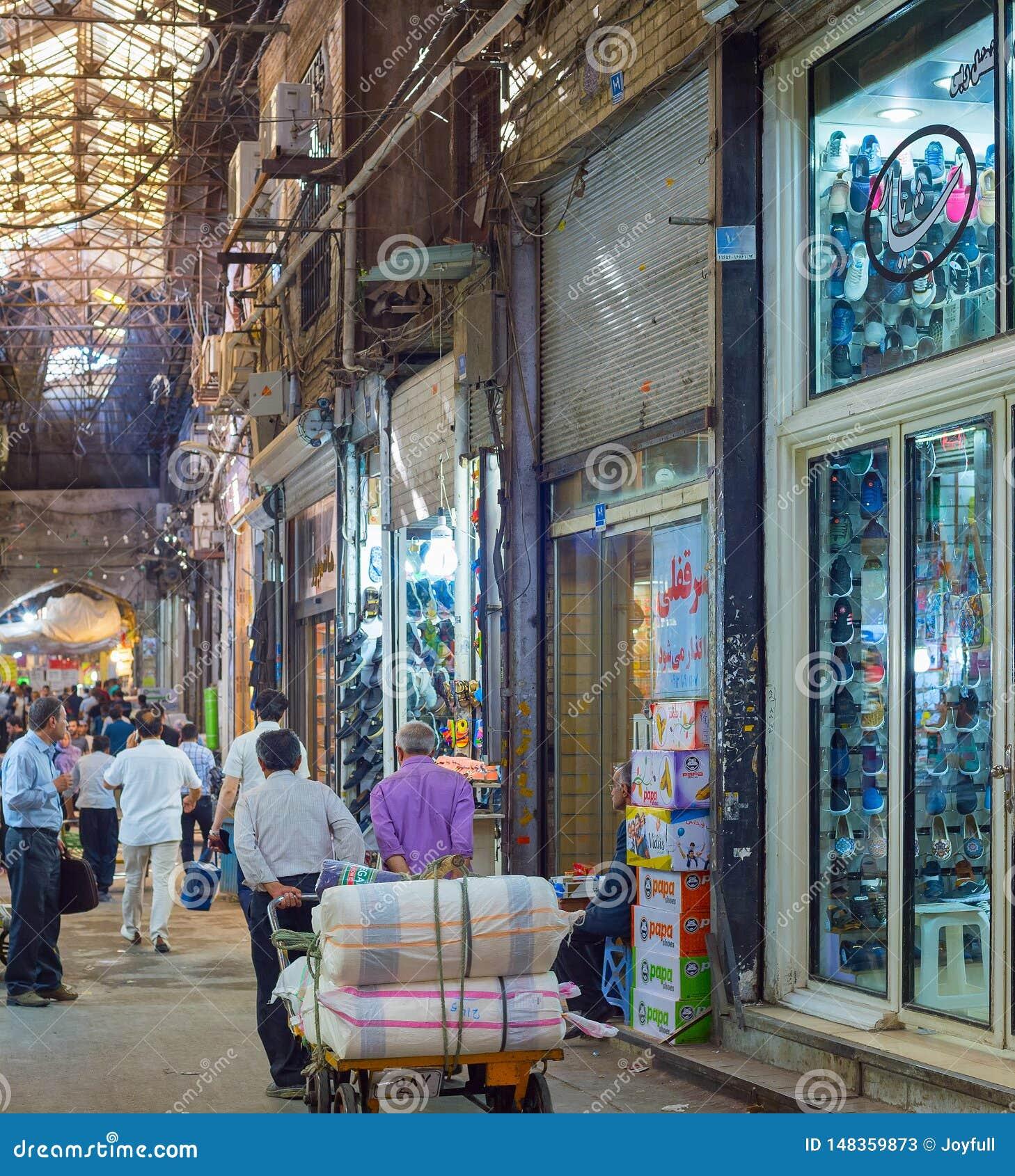 Grand Bazaar shopping street, Iran