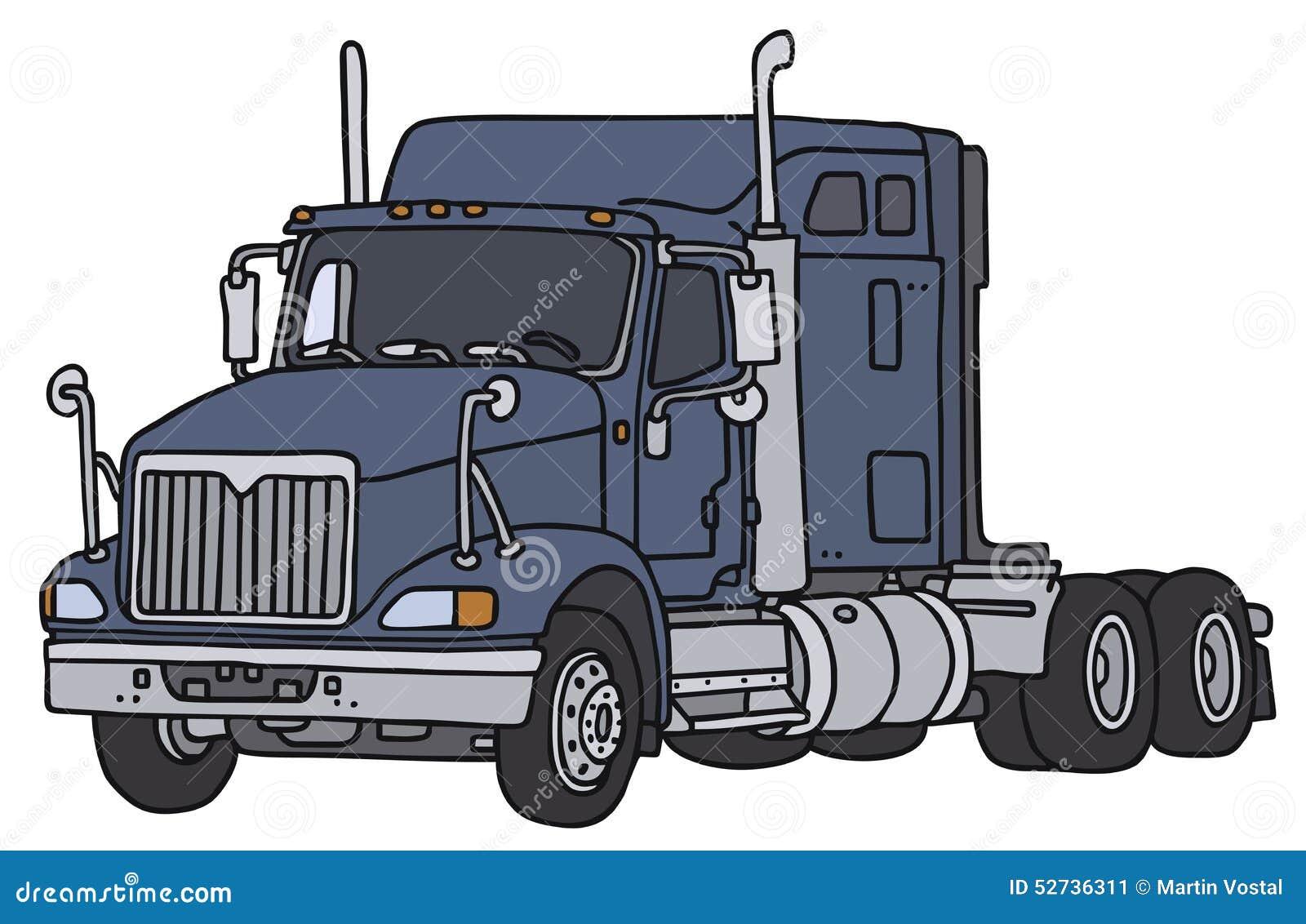 Grand camion am ricain illustration de vecteur image - Camion americain dessin ...