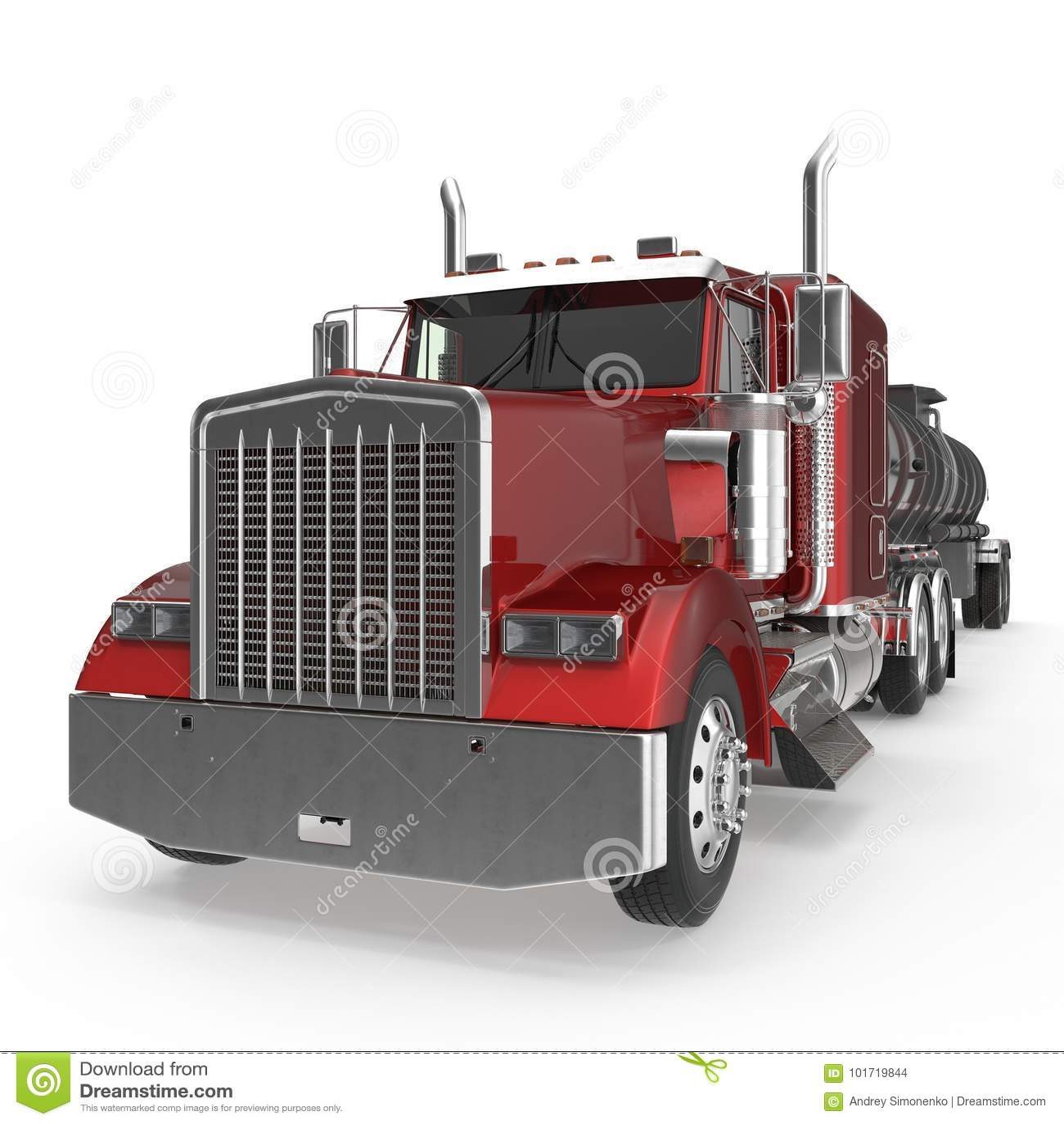 grand camion citerne aspirateur de gaz combustible sur le blanc illustration 3d illustration. Black Bedroom Furniture Sets. Home Design Ideas