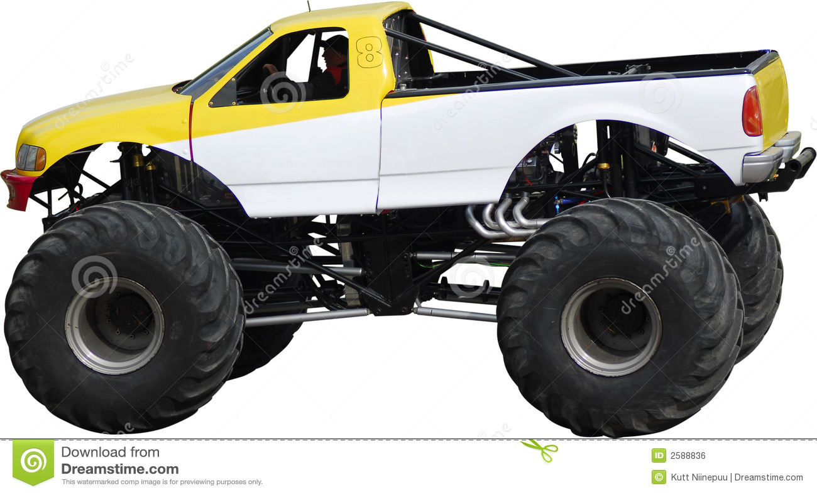 Grand camion de monstre