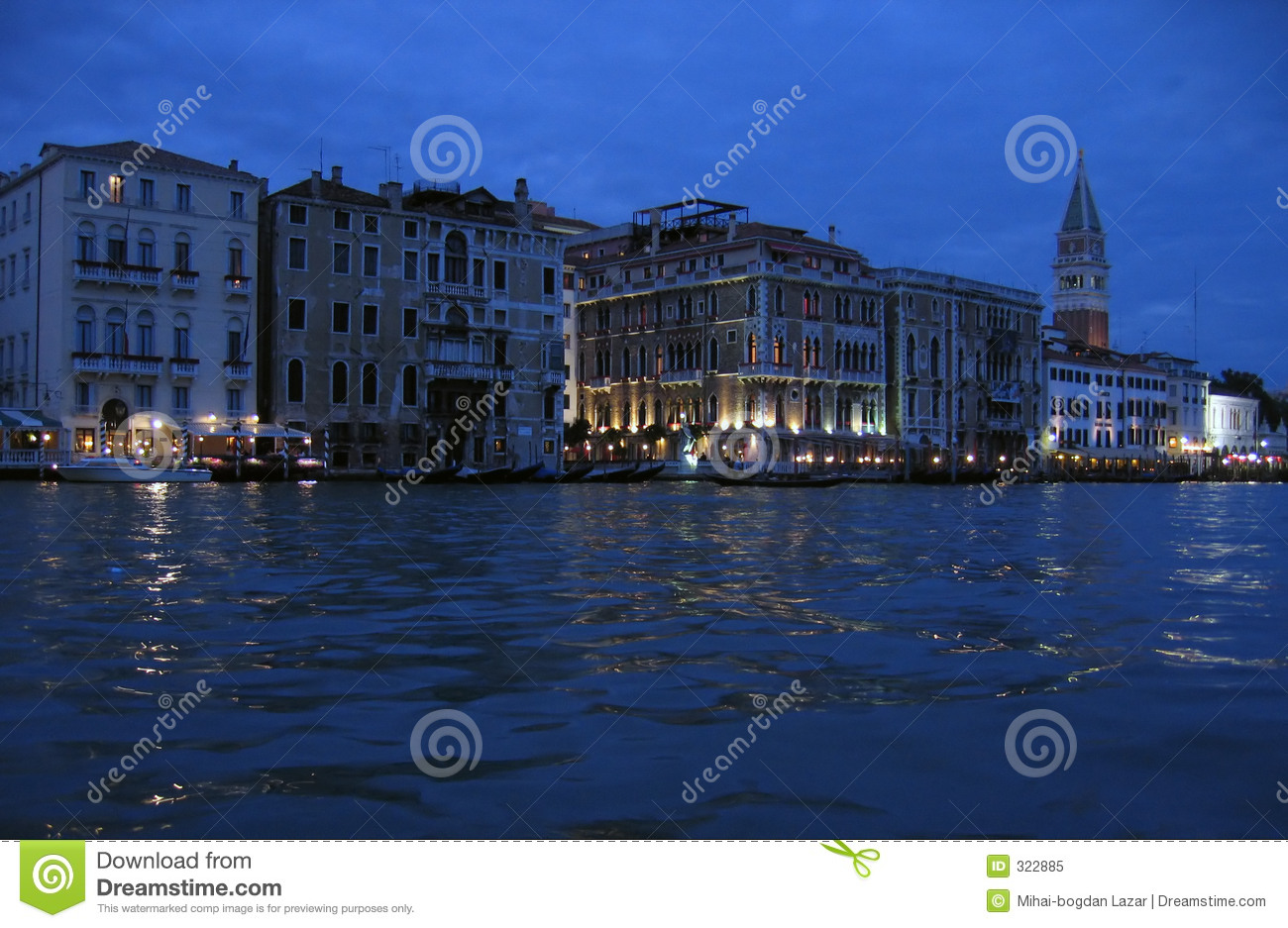 The Grand Canal at night – Venice, Italy