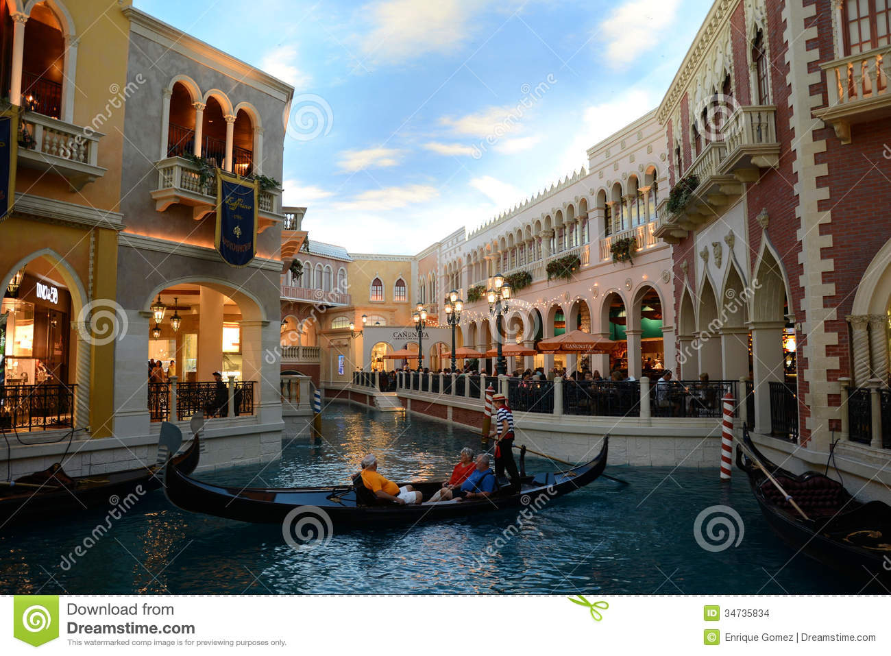 Grand Canal Shoppes At Venetian Hotel Las Vegas Editorial Stock Image - Image: 34735834