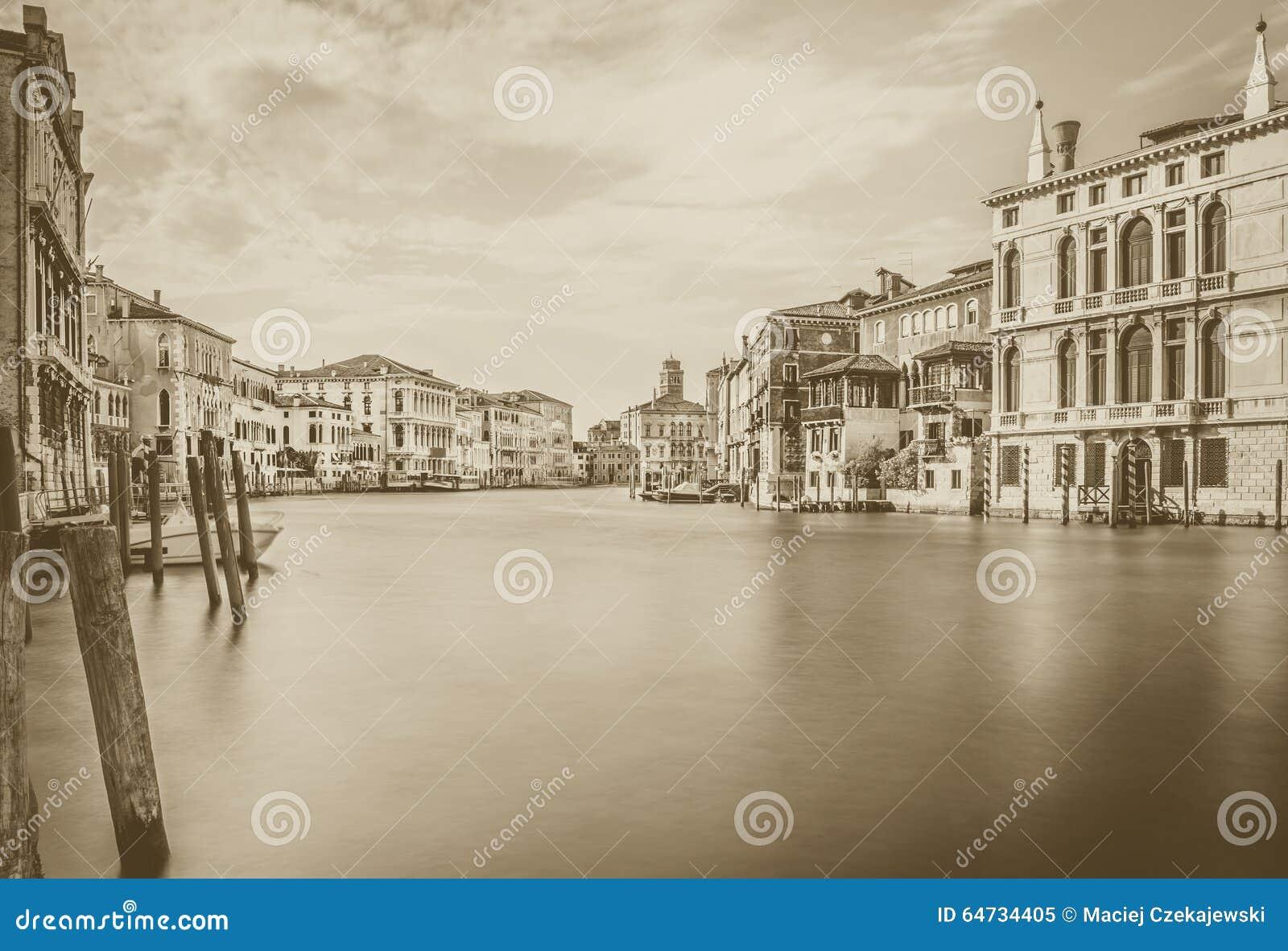 Grand Canal -Szene im b&w, Venedig