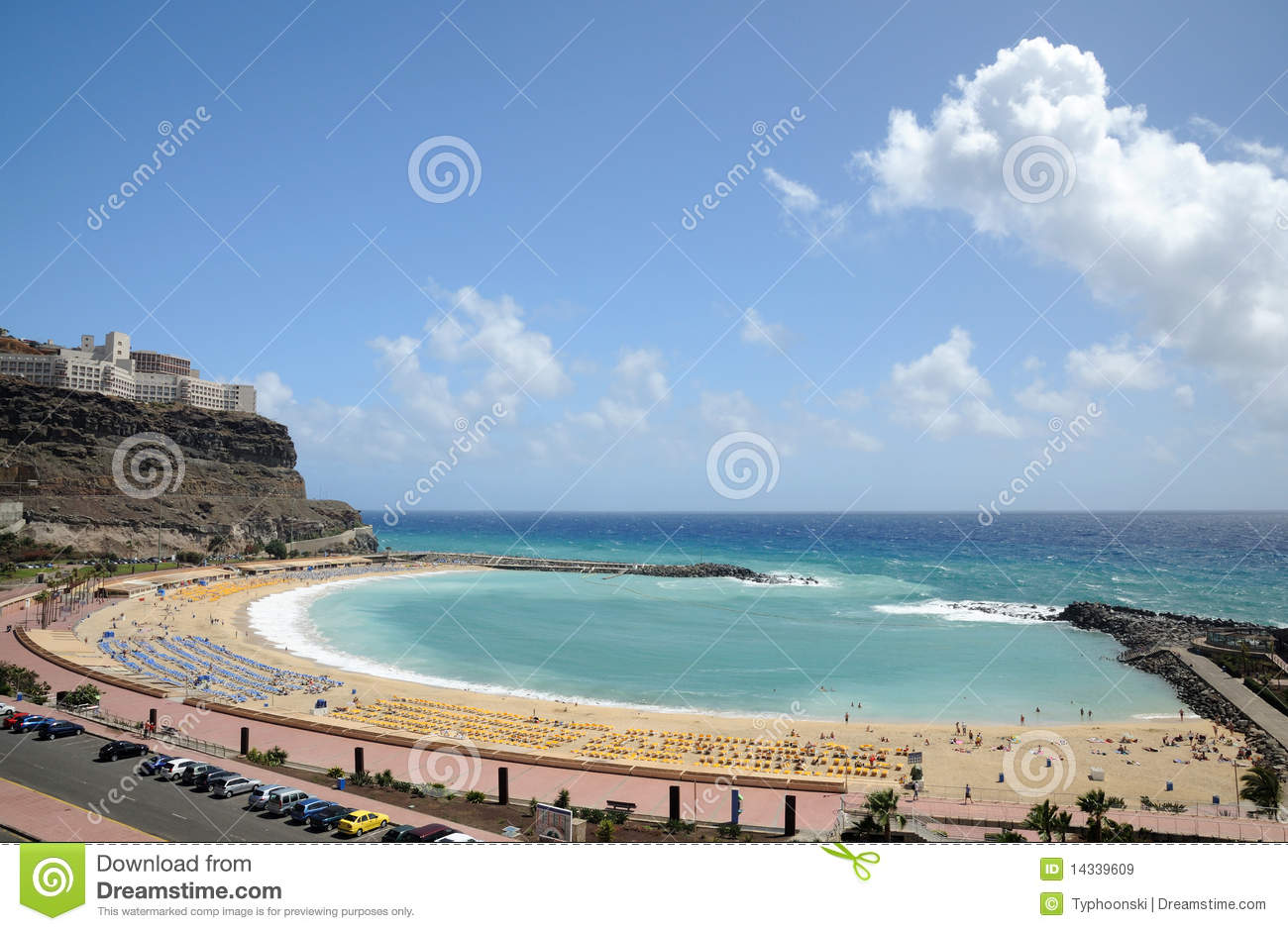 Download Grand Canary Beach stock image. Image of canaria, surf - 14339609