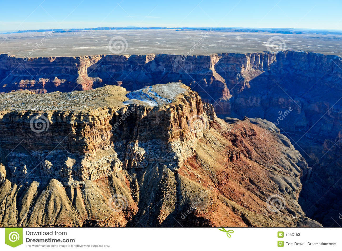 Grand Canyon aerial view stock image. Image of picturesque ...