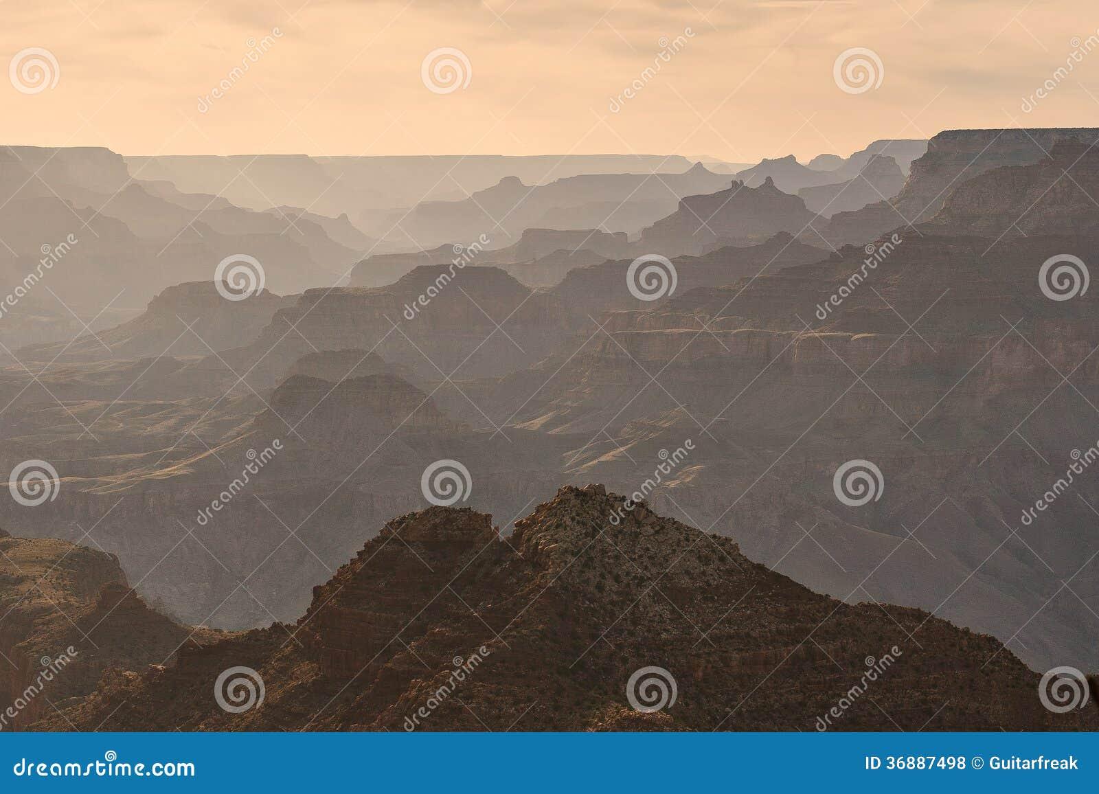 Download Grand Canyon al tramonto fotografia stock. Immagine di colorado - 36887498