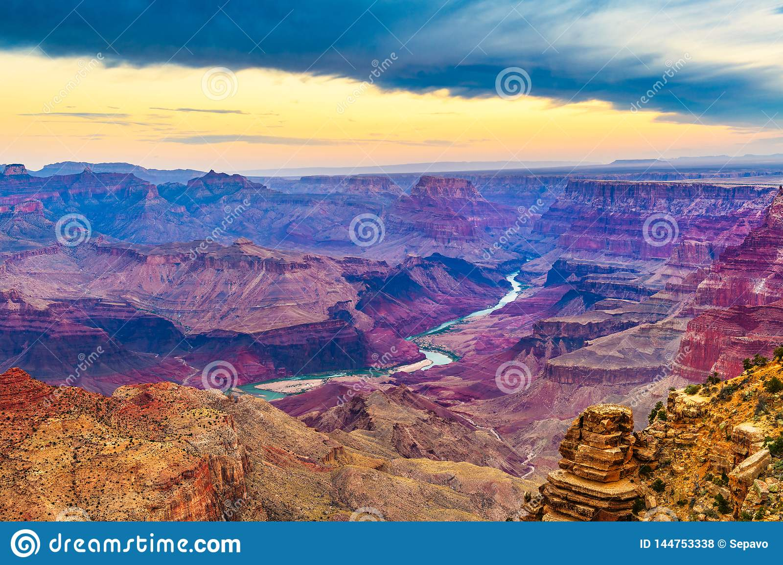 Grand Canyon, Arizona, Etats-Unis de la jante du sud