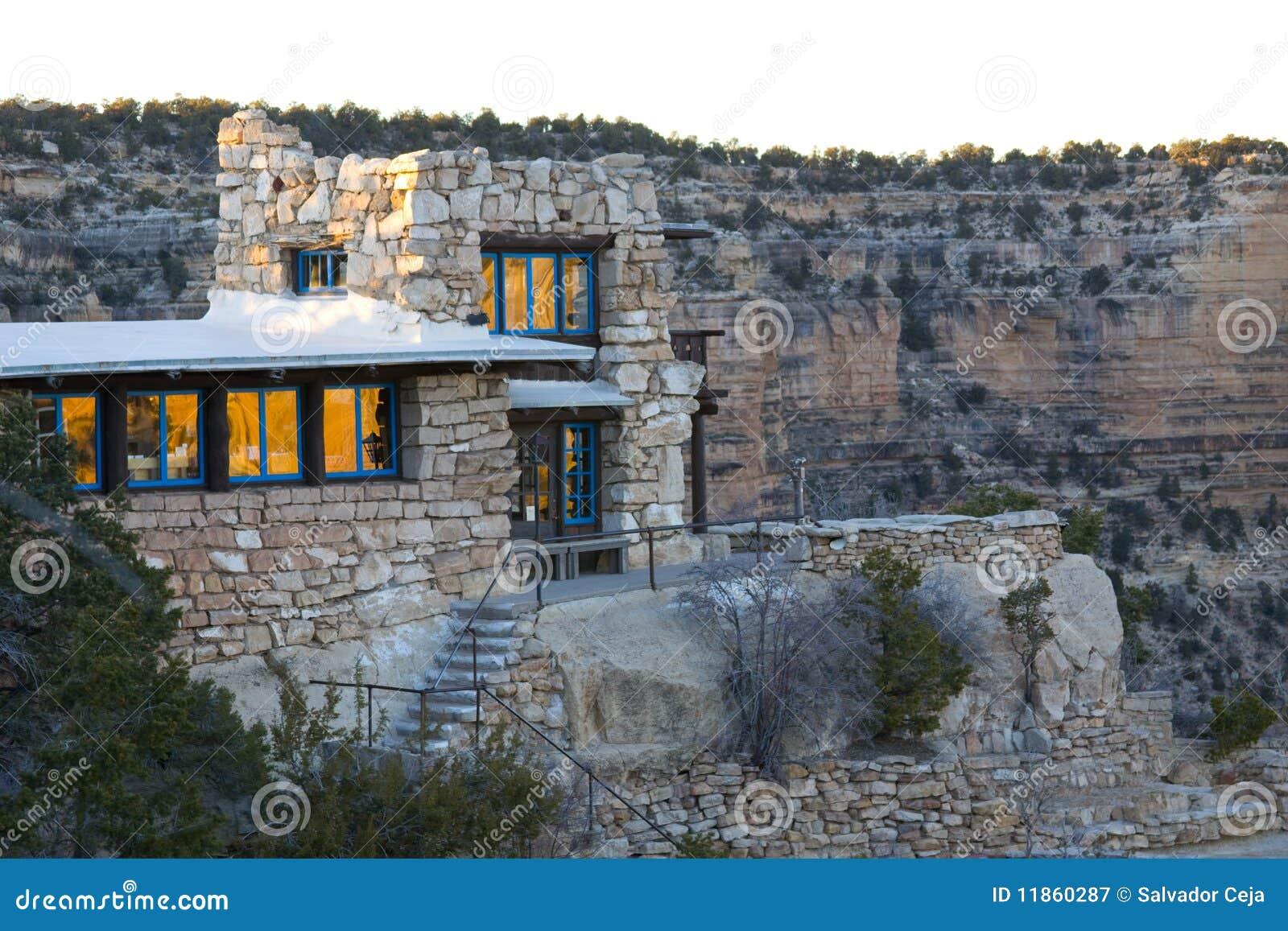 Grand canyon arizona house royalty free stock photography for Canyon house