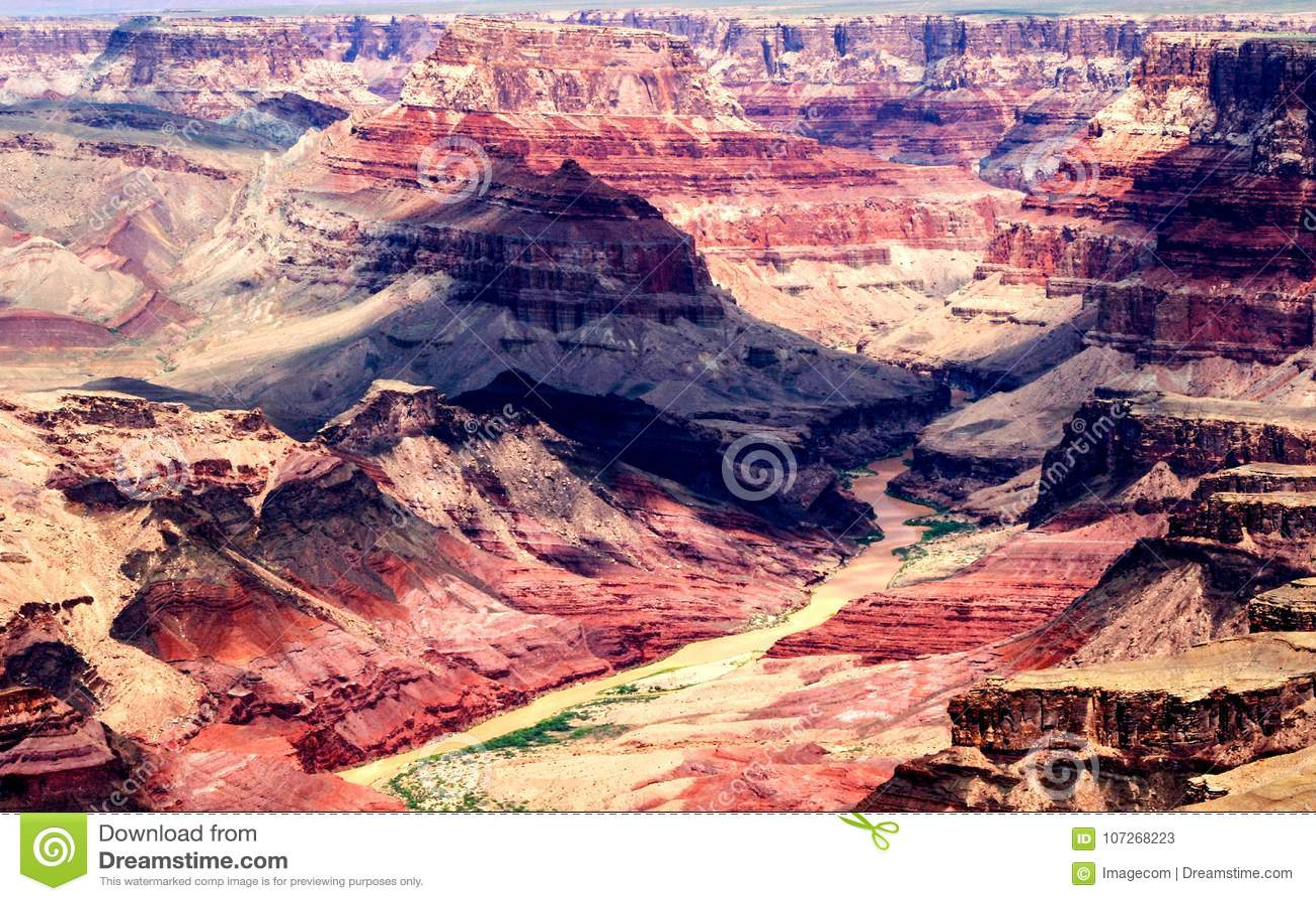 Grand Canyon Arizona Landscape U S A Stock Image Image Of