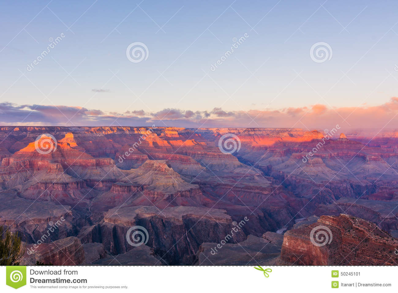 Grand Canyon In Arizona, USA During Sunset Stock Photo - Image ...
